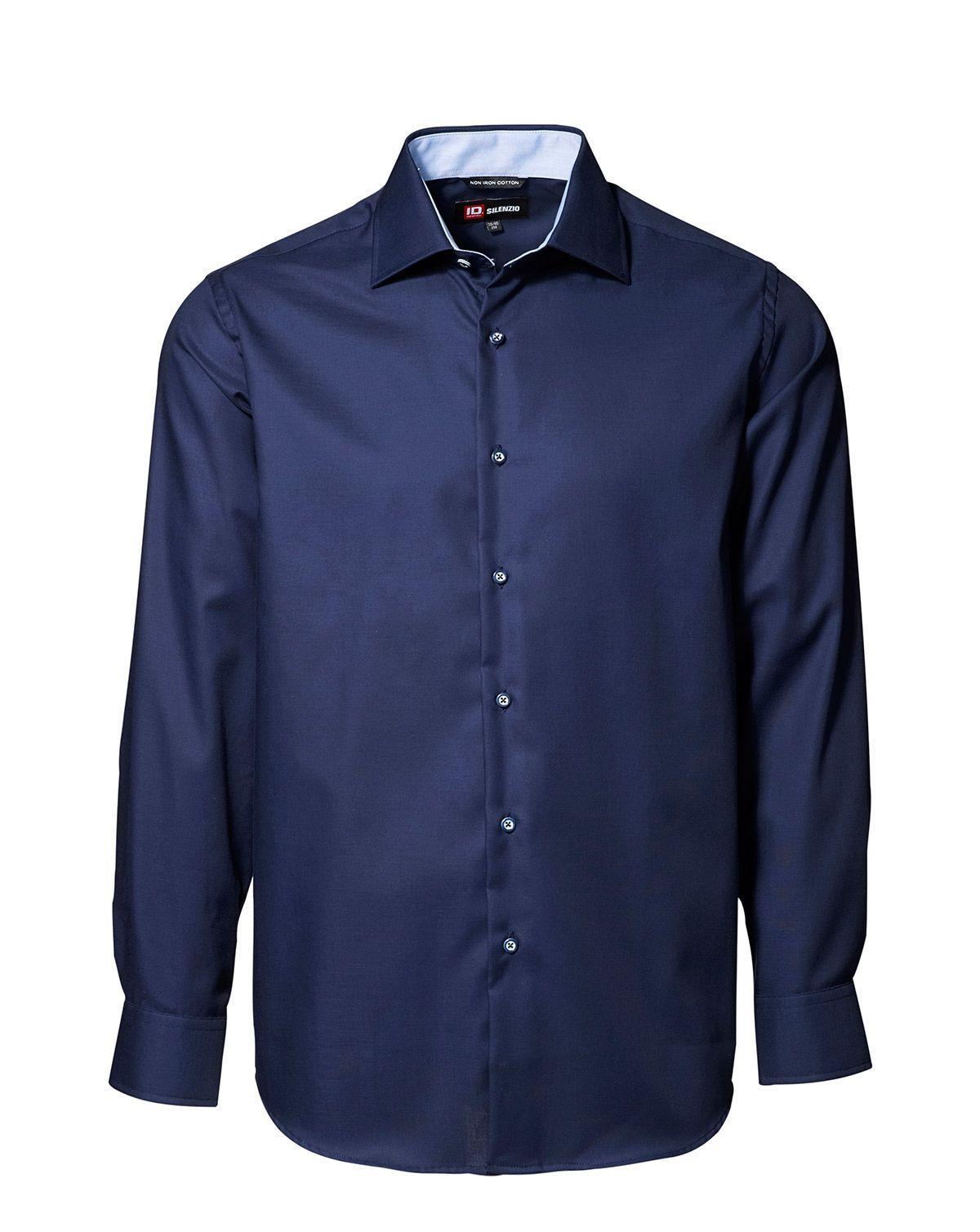 Image of   ID Easy Iron-skjorte (Navy, 43 / 44)
