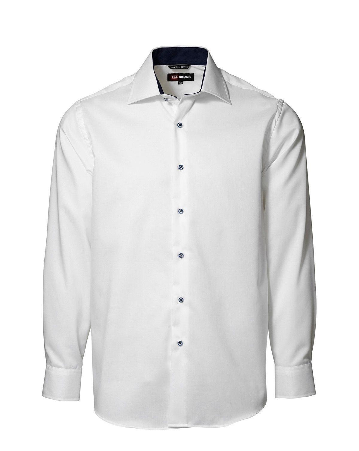 Image of   ID Easy Iron-skjorte (Hvid, 43 / 44)