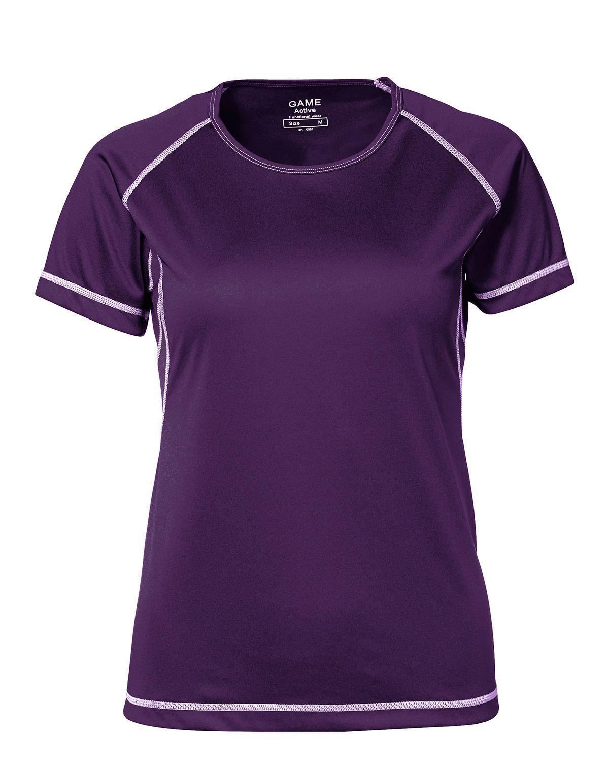 ID Feminin Active T-shirt - Fukttransporterande (Lila, S)