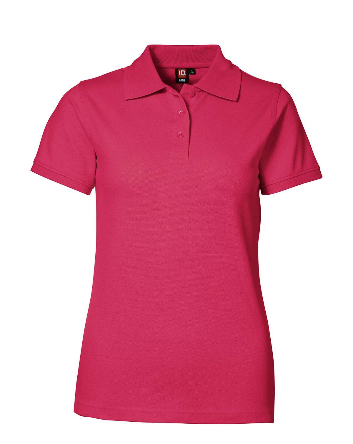 Image of   ID Feminin Stretch Polo (Pink, L)