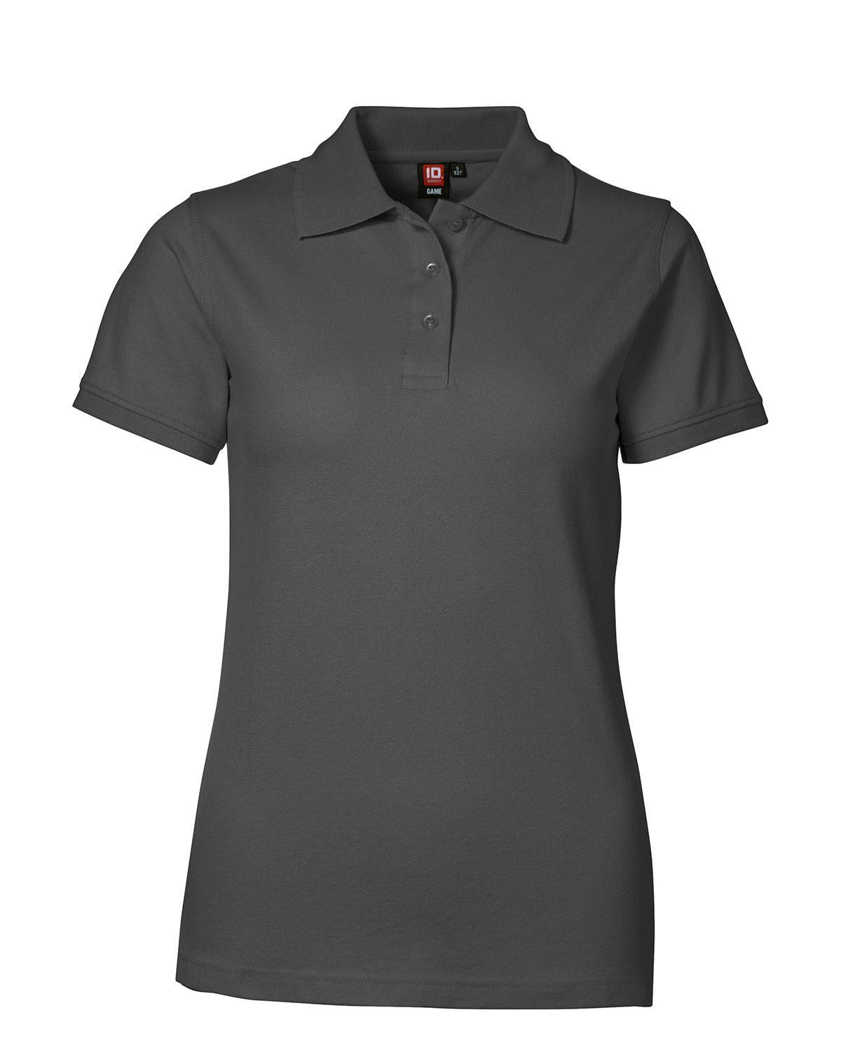 Image of   ID Feminin Stretch Polo (Charcoal, 3XL)