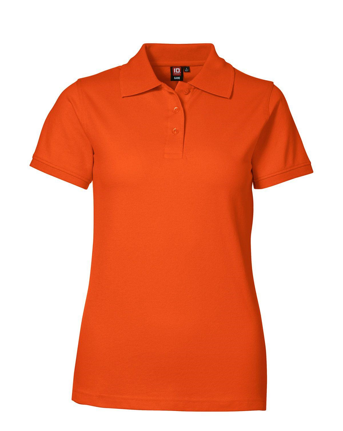Image of   ID Feminin Stretch Polo (Orange, 2XL)
