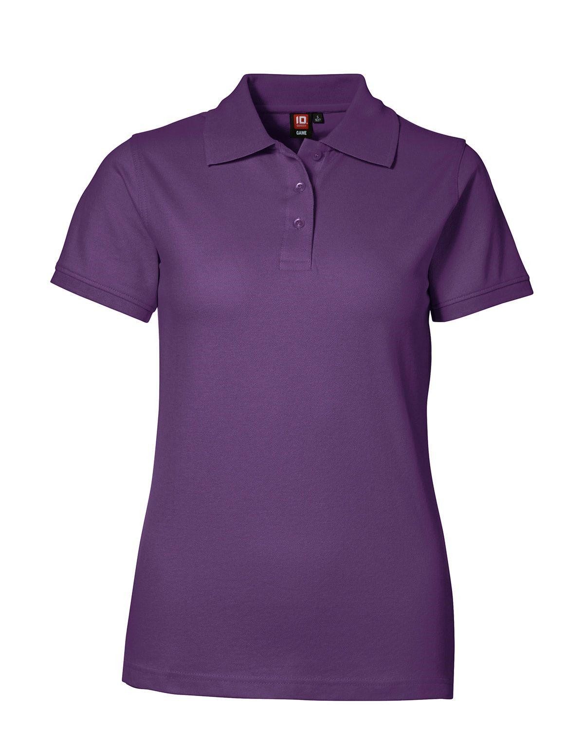 Image of   ID Feminin Stretch Polo (Lilla, 2XL)