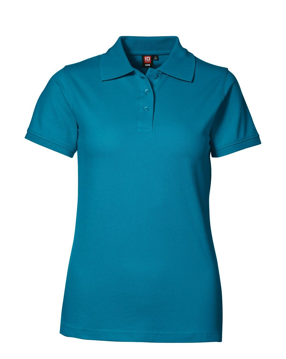 Image of   ID Feminin Stretch Polo (Turkis, L)