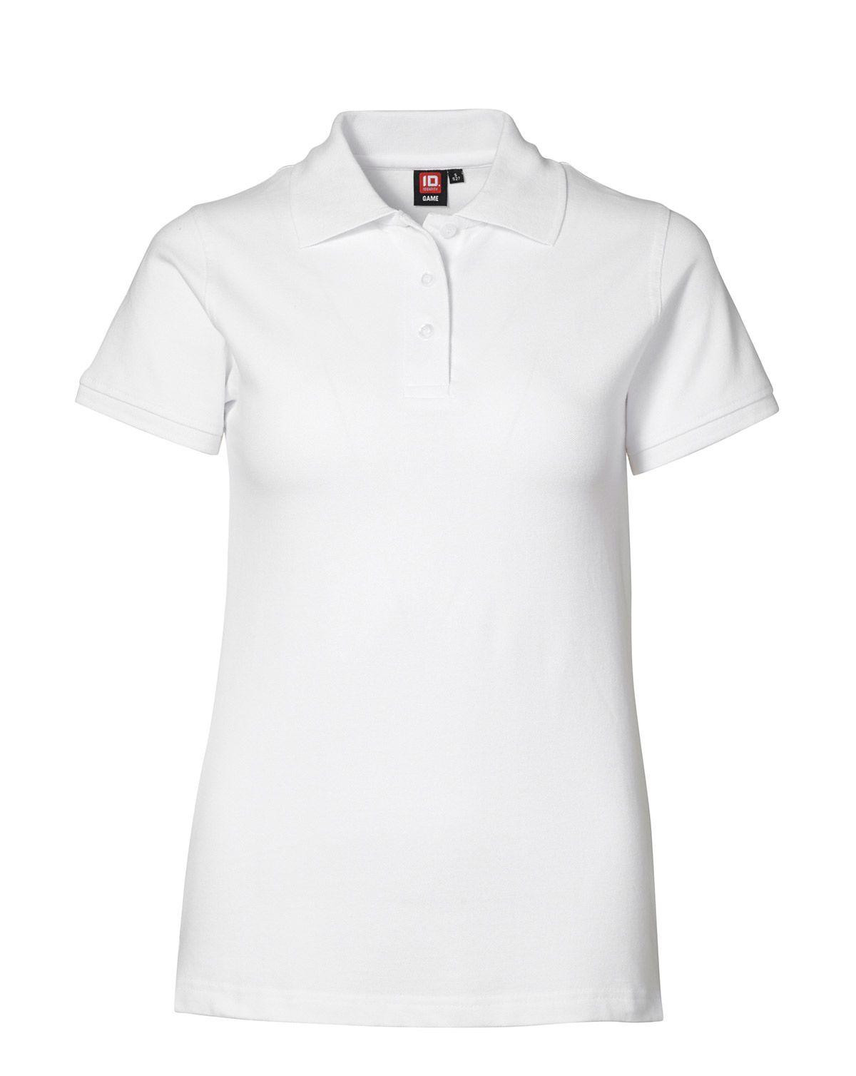 Image of   ID Feminin Stretch Polo (Hvid, 2XL)