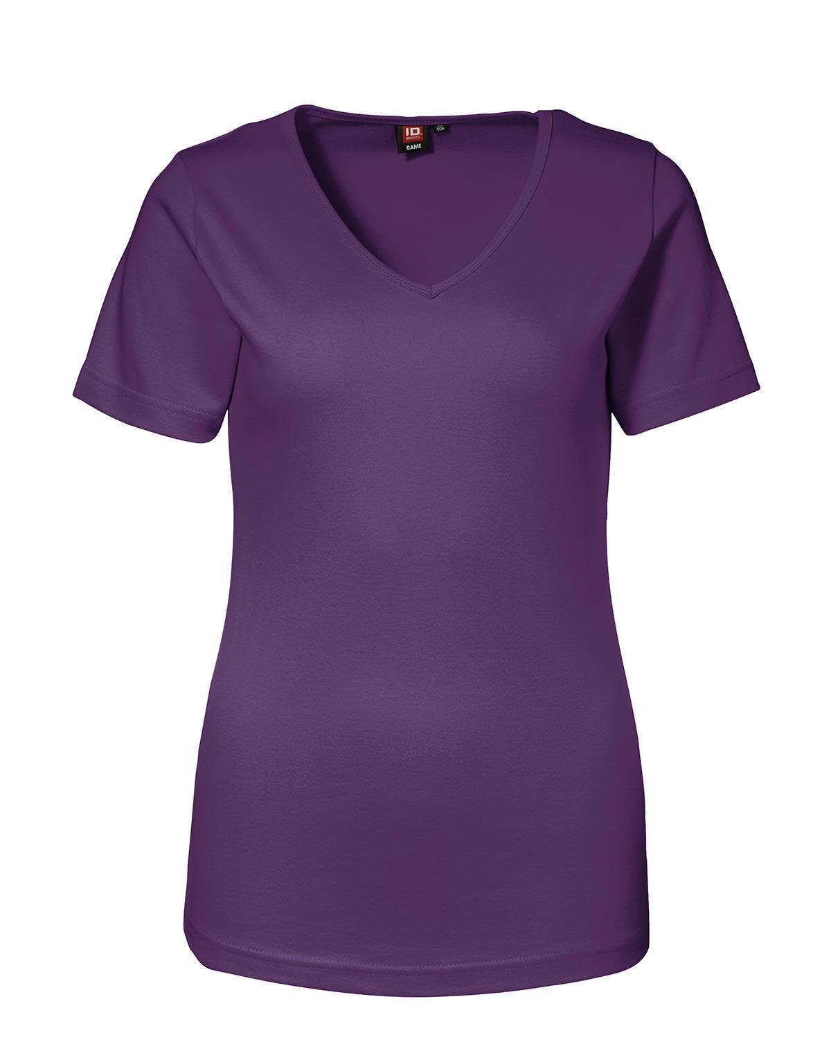 ID Feminin V-ringad T-shirt (Lila, XL)