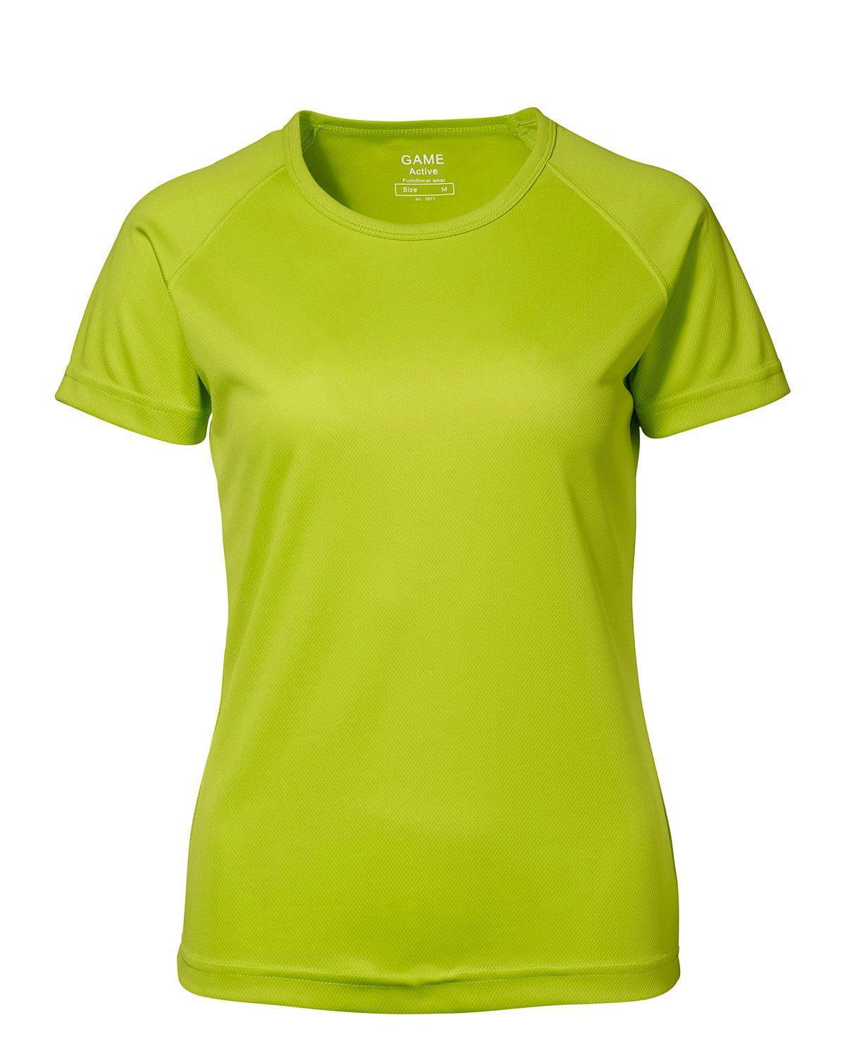 ID GAME Active T-shirt för Kvinnor (Lime, XL)