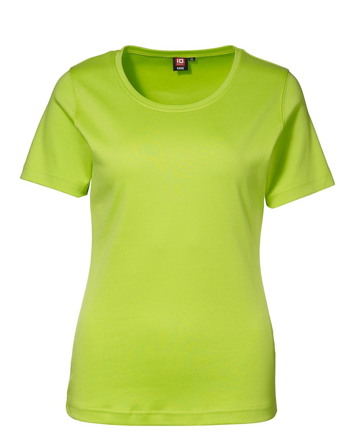 ID Interlock T-shirt för Kvinnor (Lime, XL)