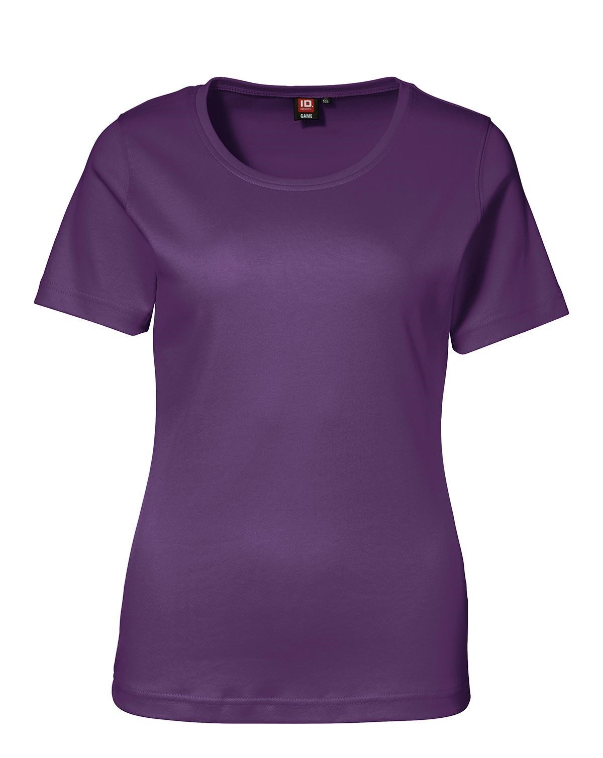 ID Interlock T-shirt för Kvinnor (Lila, XL)