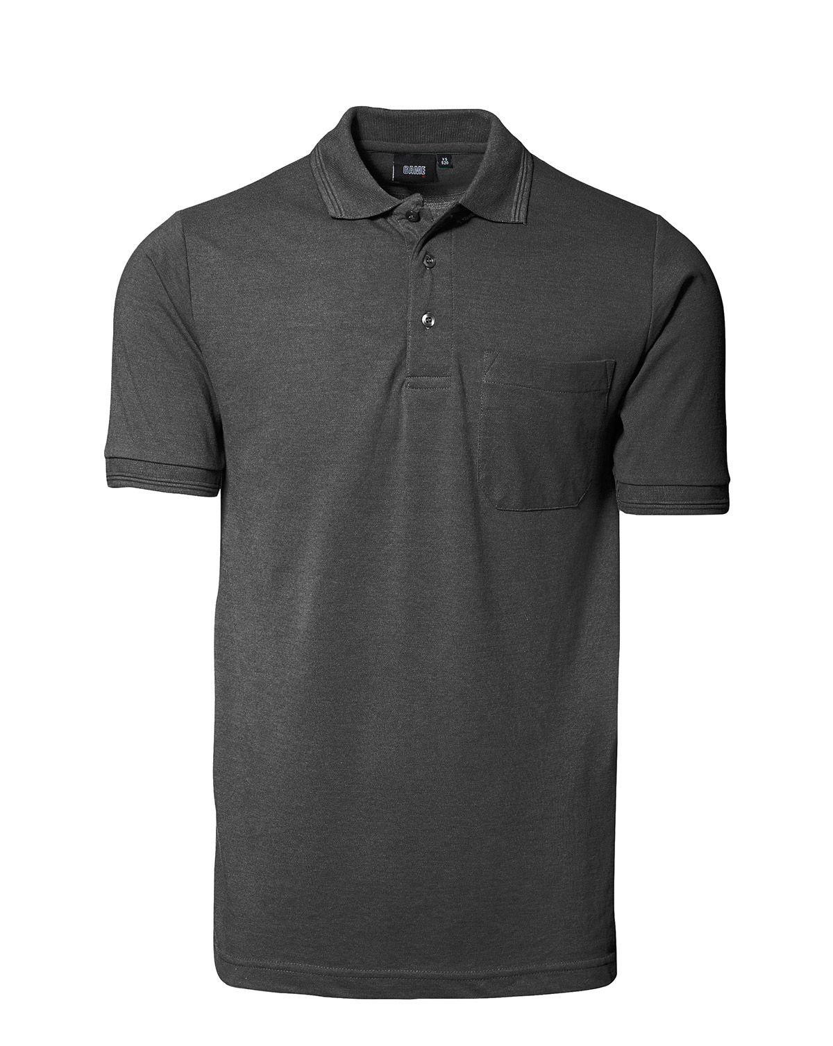 Image of   ID Klassisk Polo m. Lomme (Charcoal, 2XL)