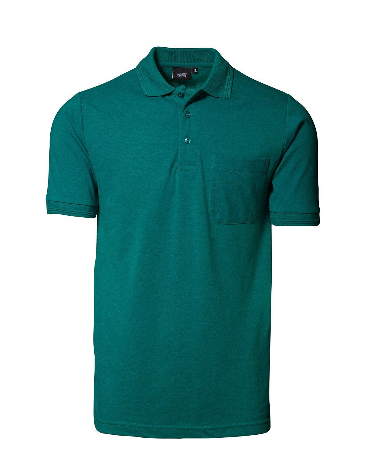 Image of   ID Klassisk Polo m. Lomme (Grøn, 2XL)