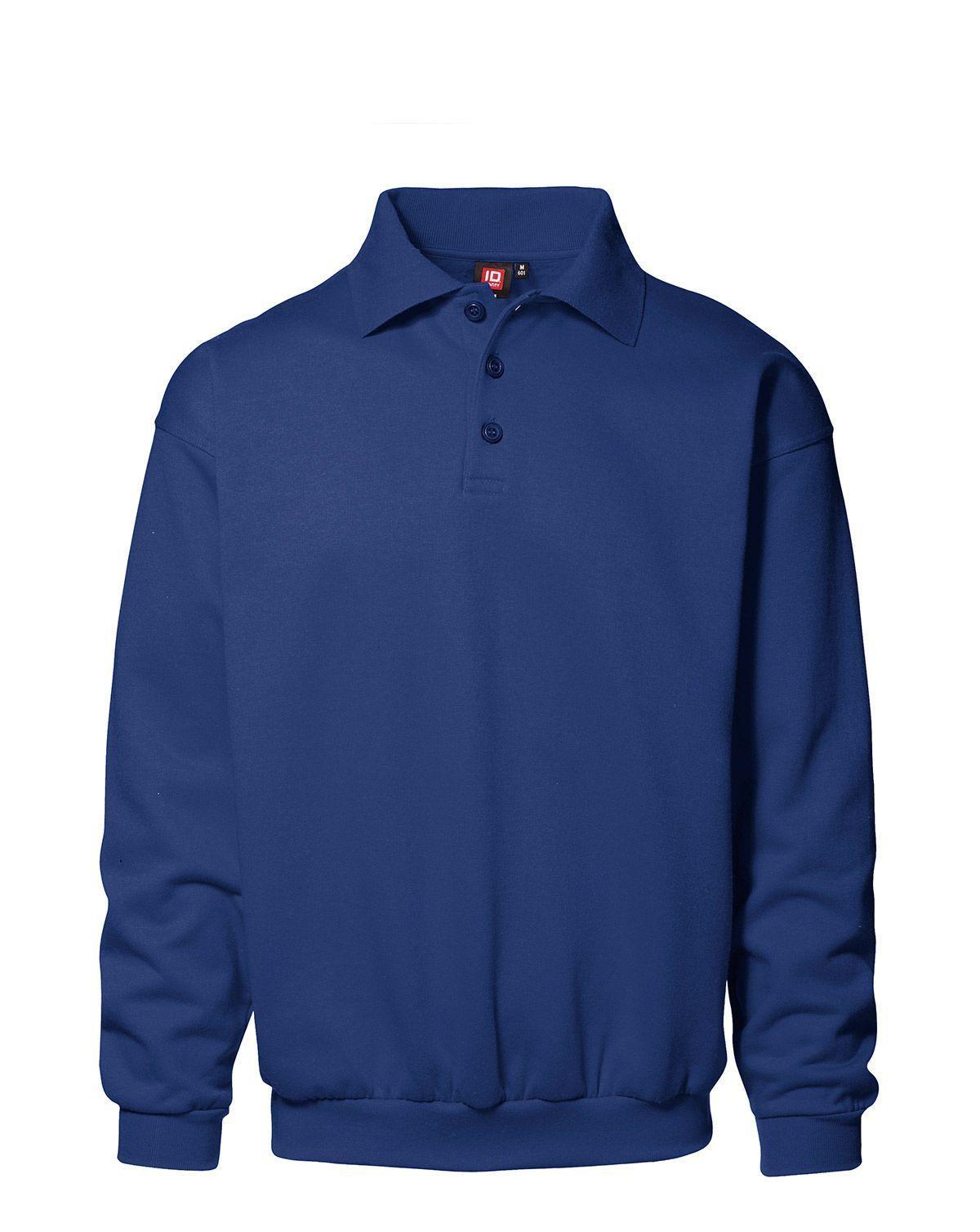 ID Klassisk Polosweatshirt (Kungsblå, XL)