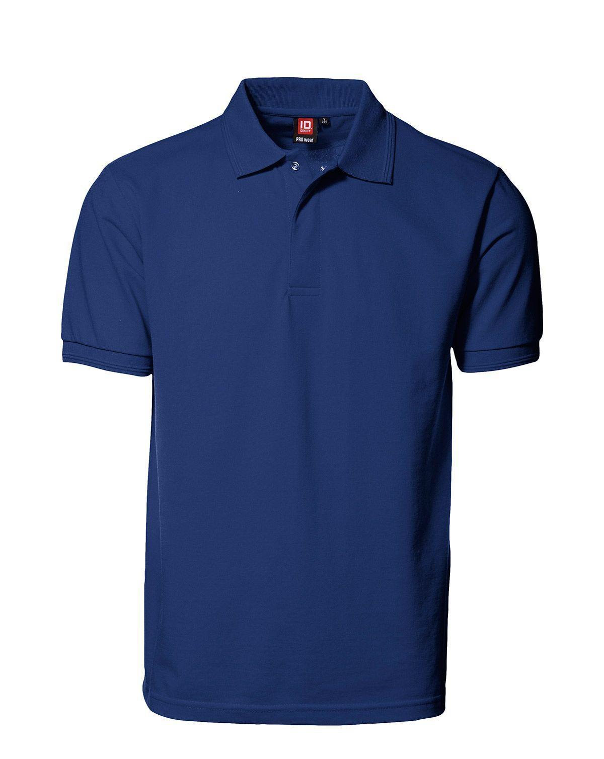 ID PRO Wear Poloshirt m. Tryckknapp (Kungsblå, XS)