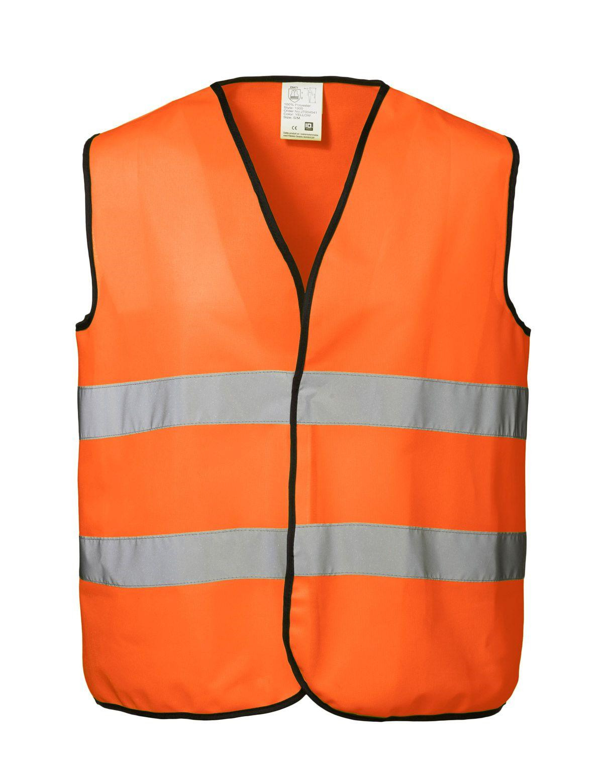 Image of   ID Sikkerhedsvest - Fluorescerende & m. Reflekser (Orange, 2XL)