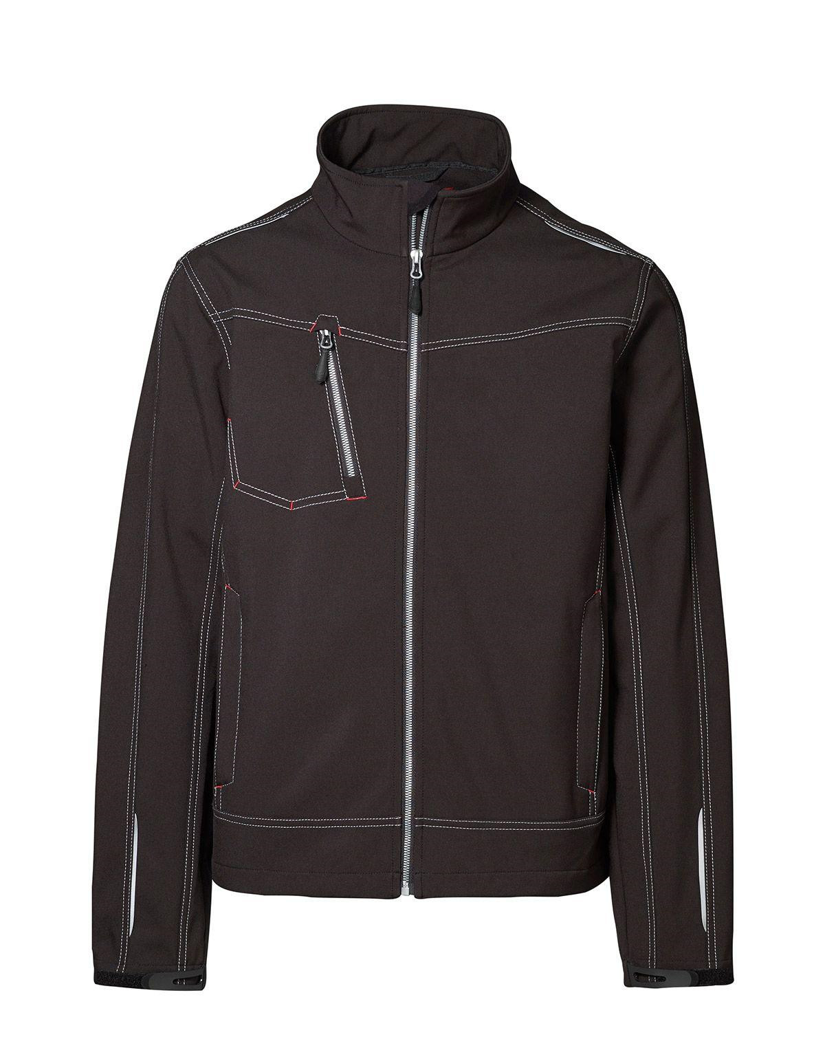 Image of   ID Softshell Jakke (Sort, 2XL)