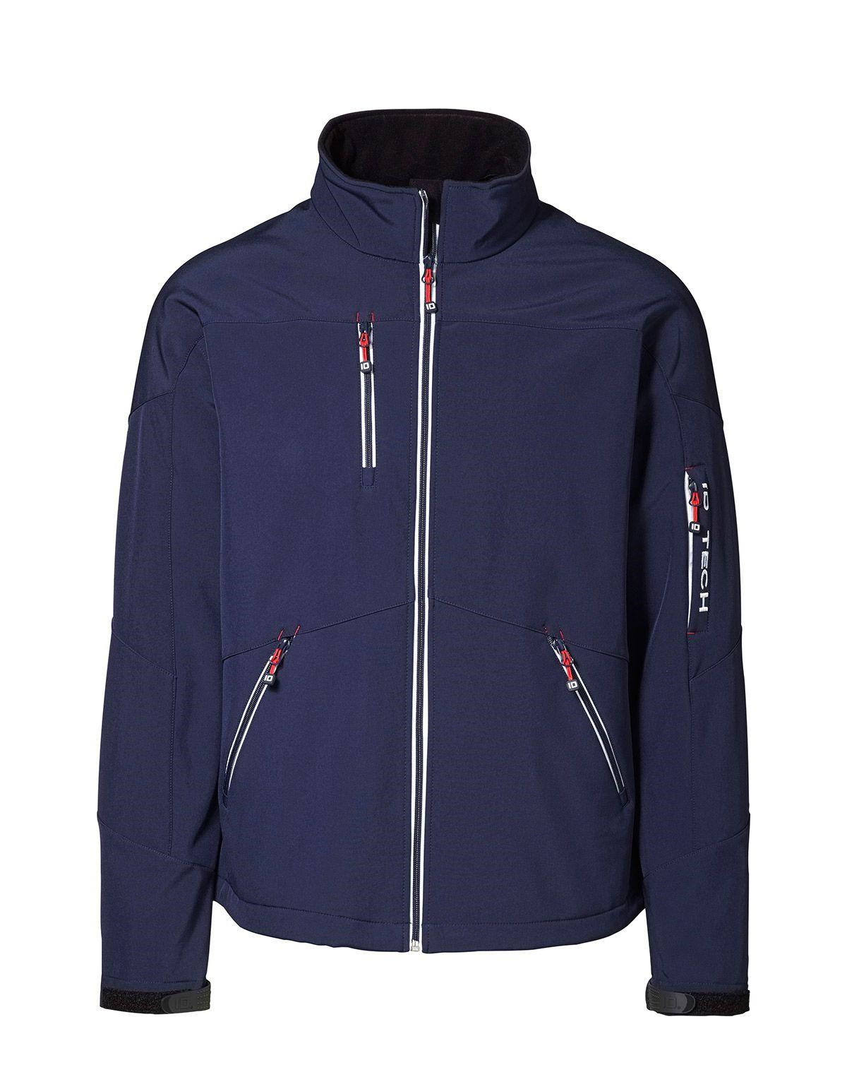 Image of   ID Softshell, kontrast Jakke (Navy, 2XL)