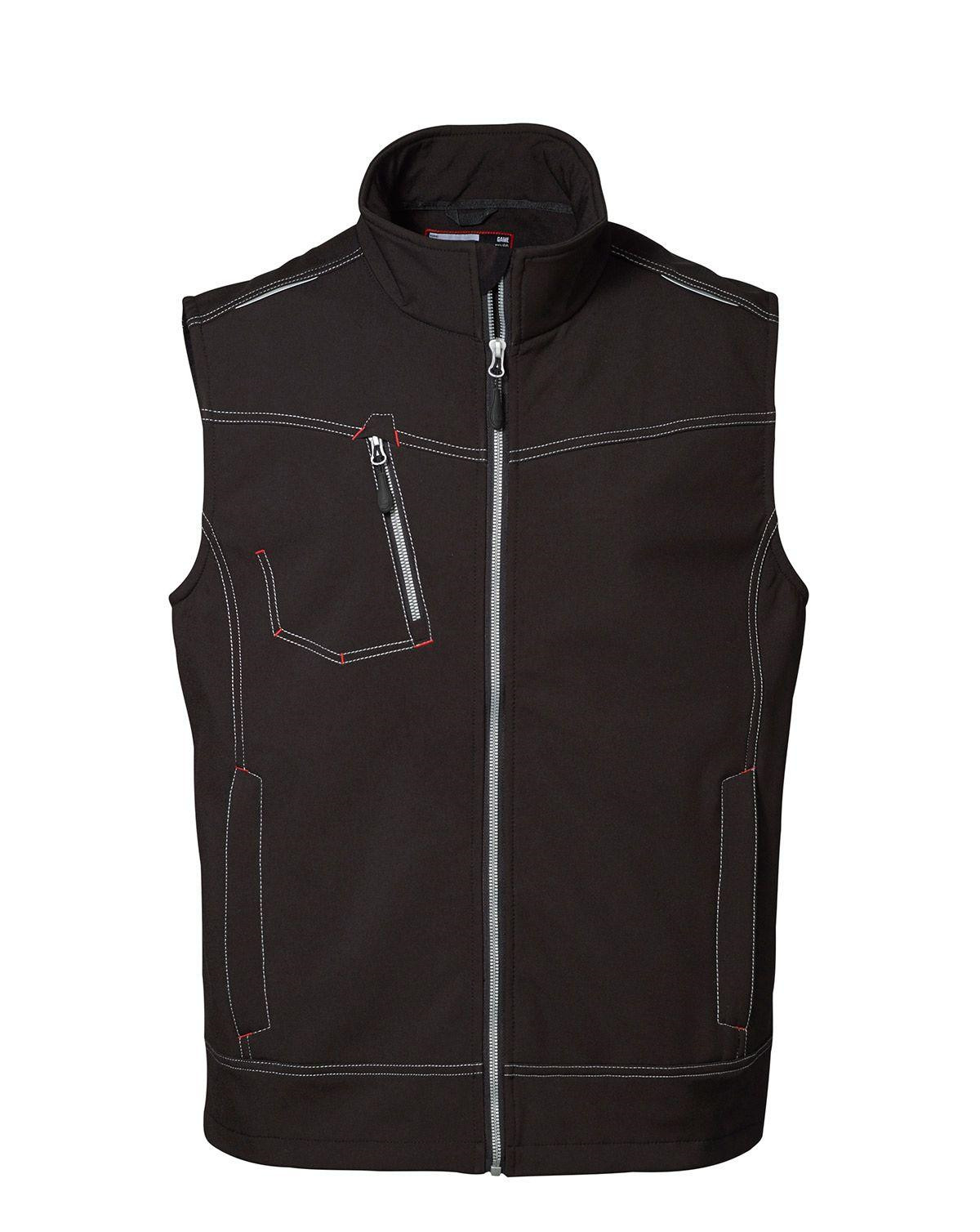 Image of   ID Softshell Vest (Sort, 2XL)
