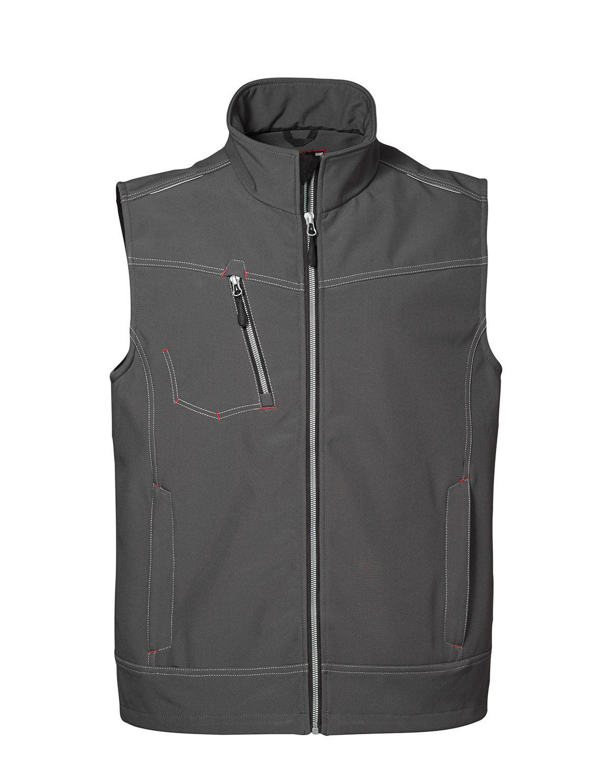 Image of   ID Softshell Vest (Sølv Grå, 3XL)