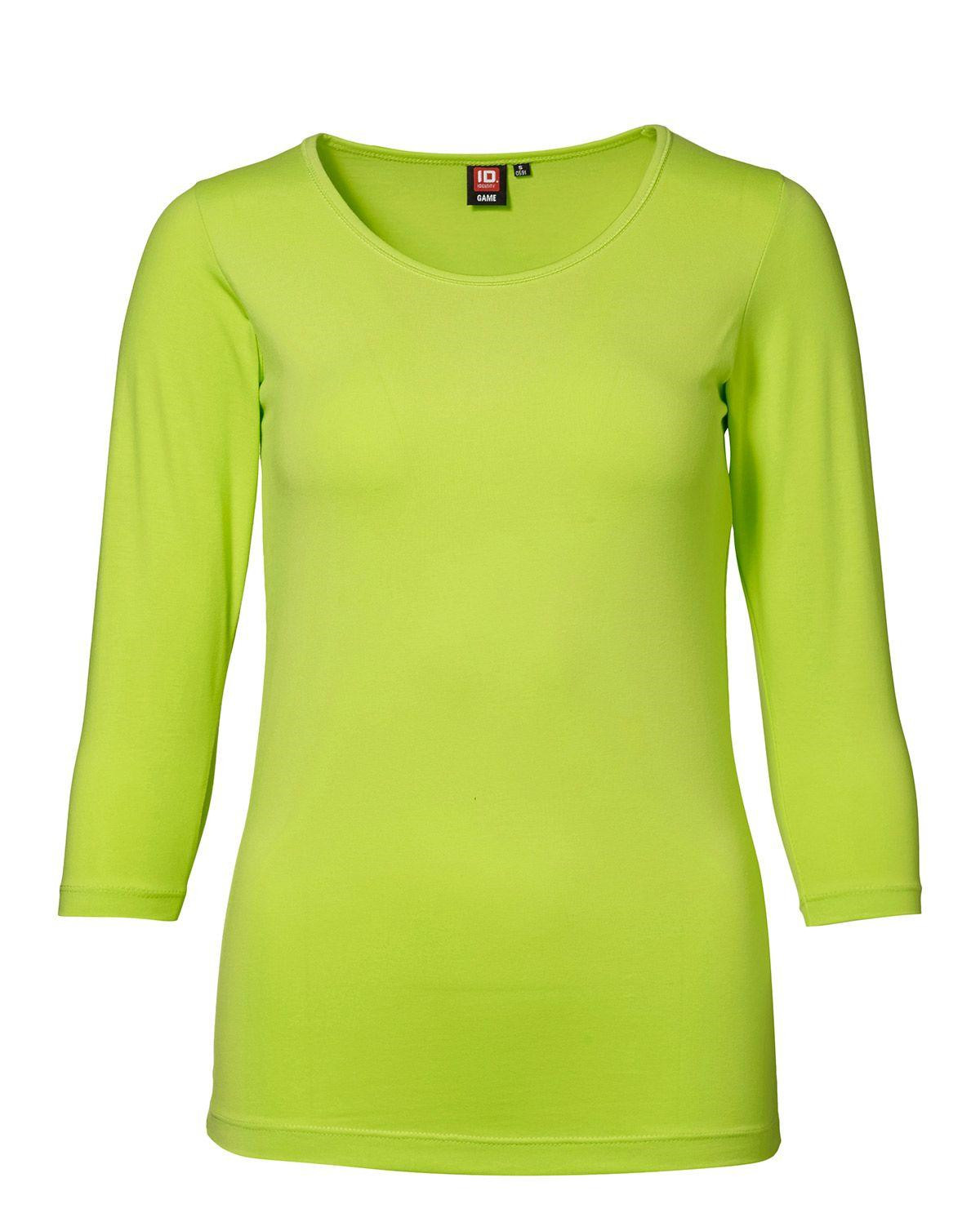 ID Stretch T-shirt, 3/4-ärm (Lime, XS)