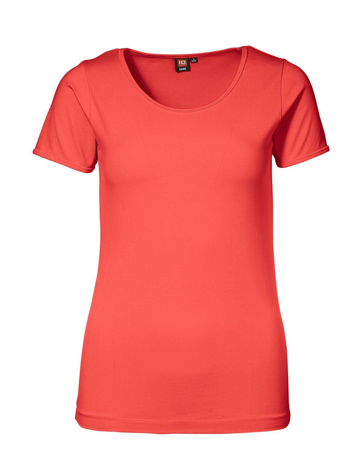 ID Stretch T-shirt för Kvinnor (Koral, XS)