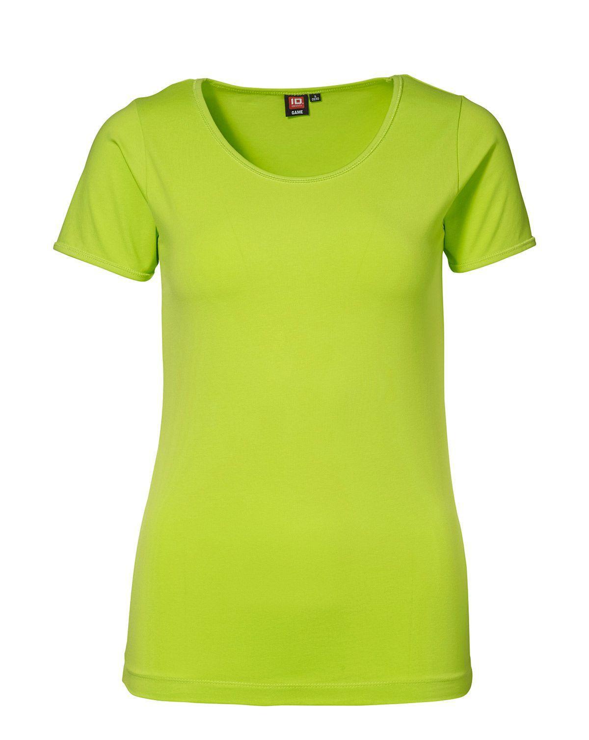 ID Stretch T-shirt för Kvinnor (Lime, XS)