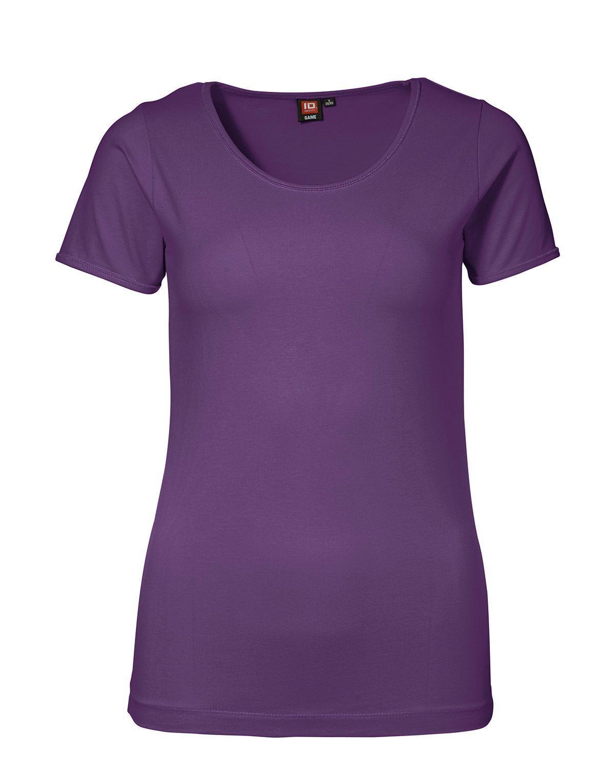 ID Stretch T-shirt för Kvinnor (Lila, XS)