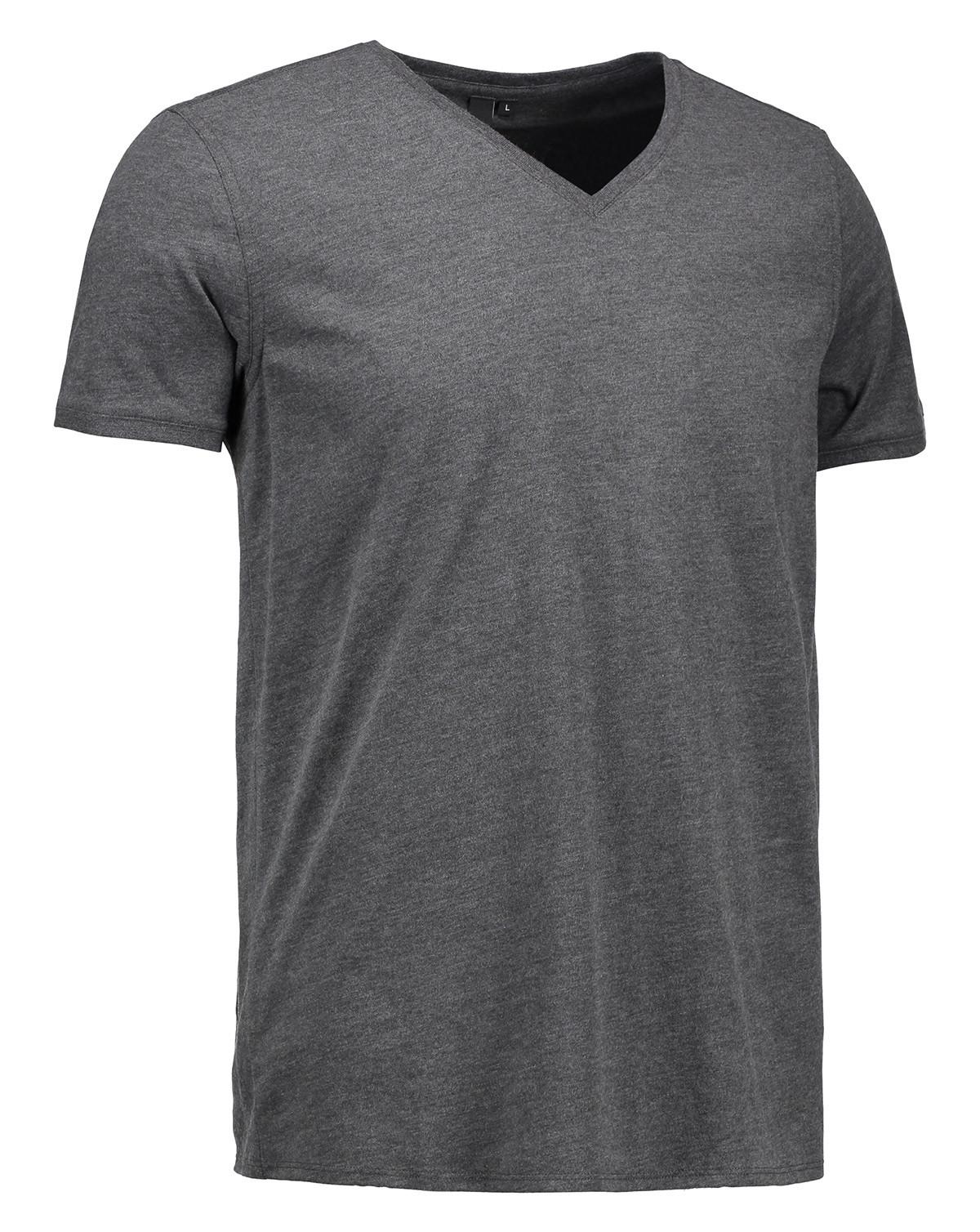 ID T-shirt Core V-Neck (Charcoal, 3XL)