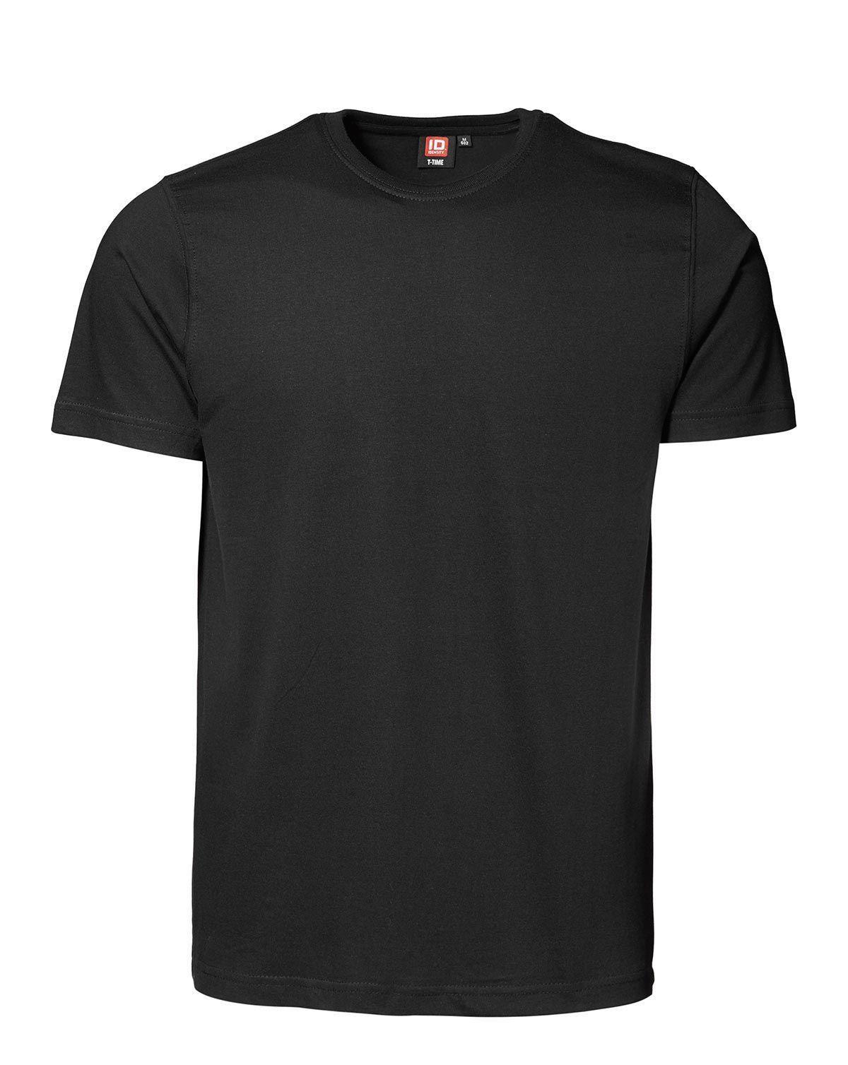 ID T-shirt, Sporty-Fit (Sort, M)