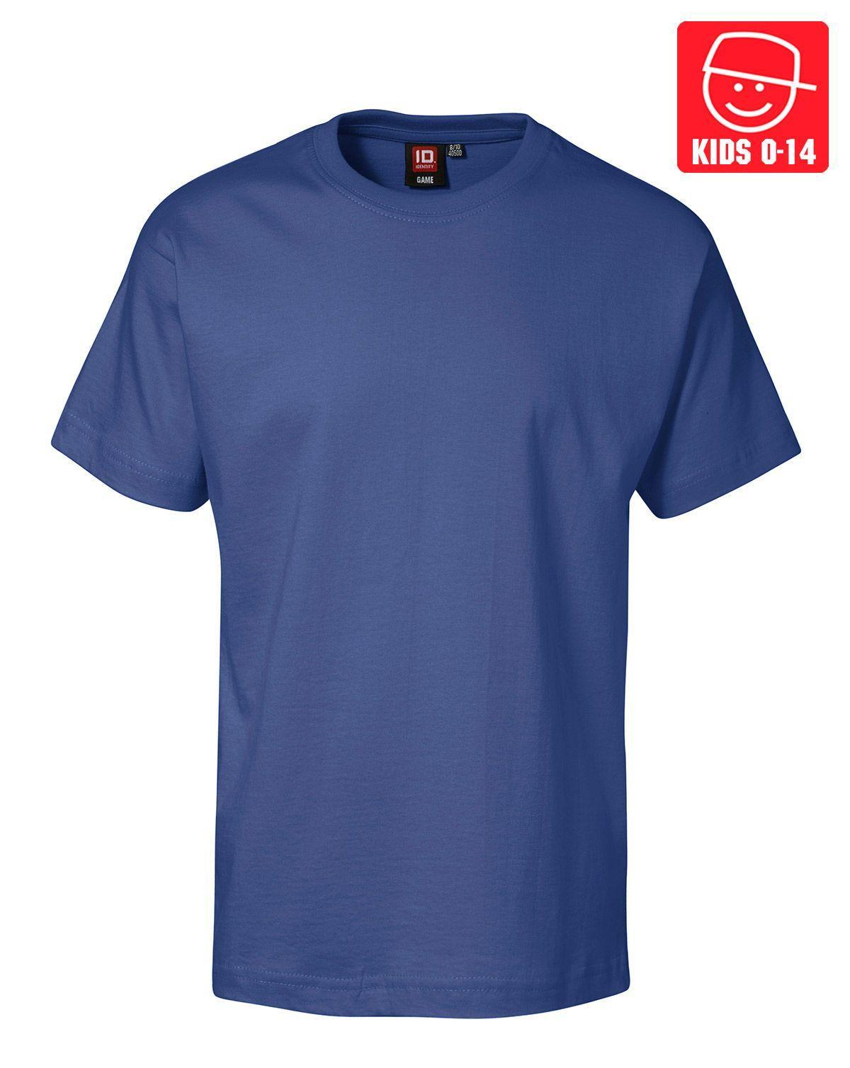 Image of   ID T-shirts (Kongeblå, 128)