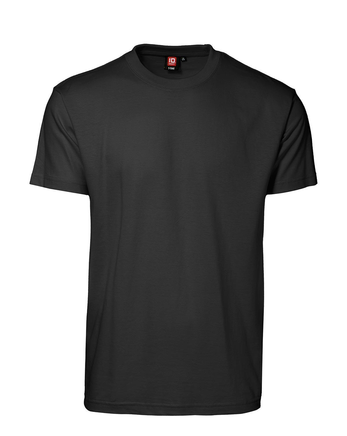 ID T-Time T-shirt, rund hals (Sort, 5XL)