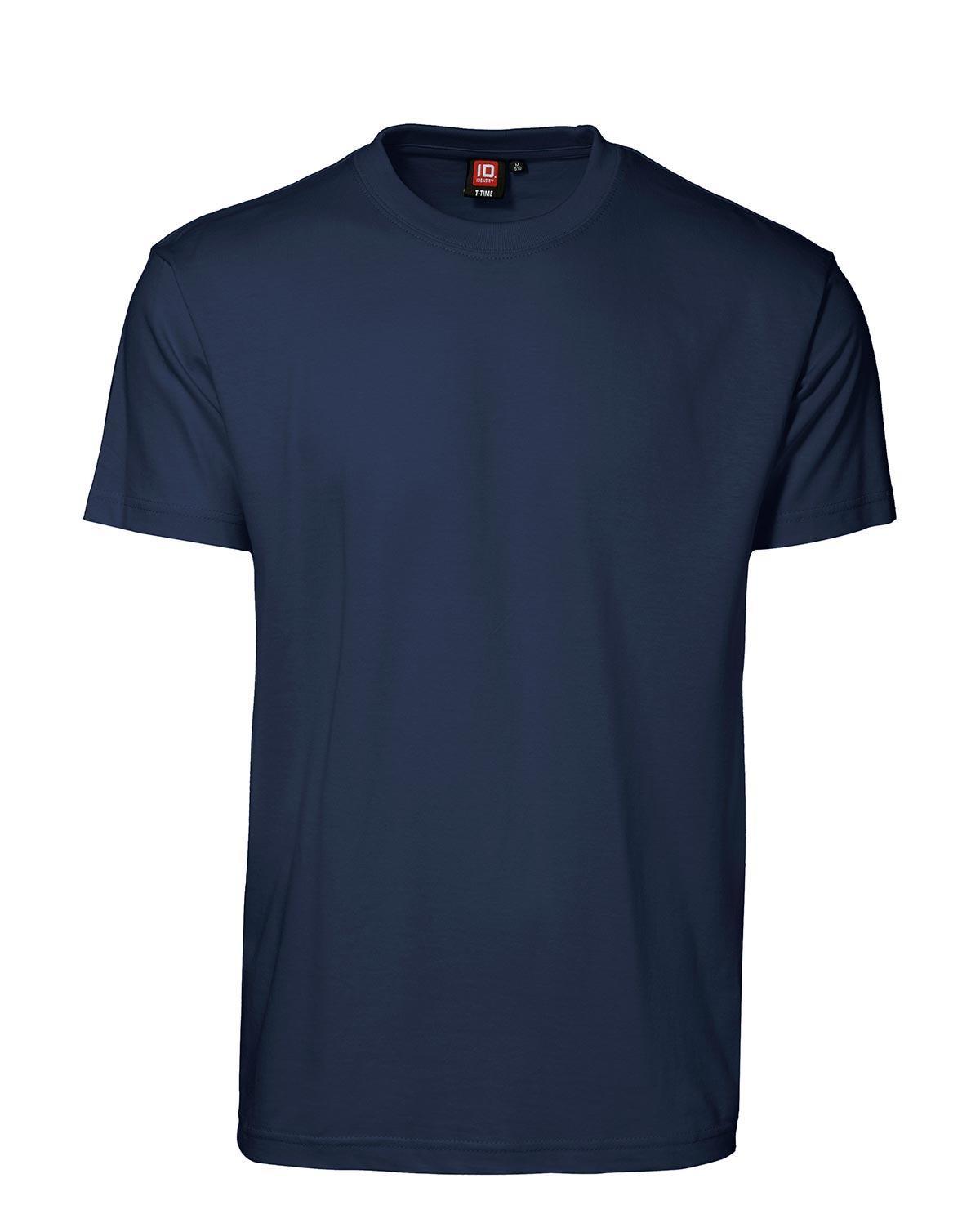 ID T-Time T-shirt, rund hals (Navy, M)