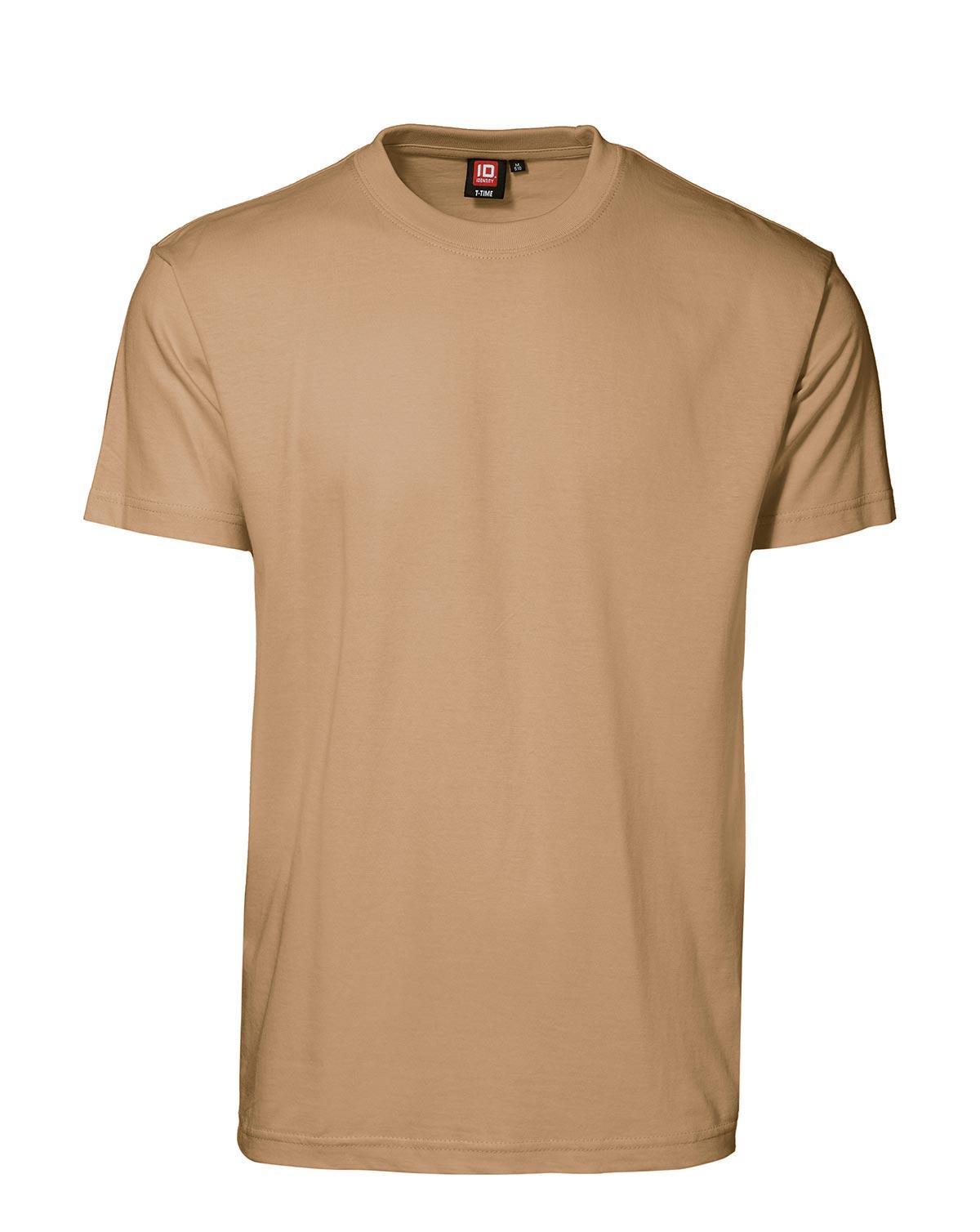 ID T-Time T-shirt, rund hals (Sand, L)