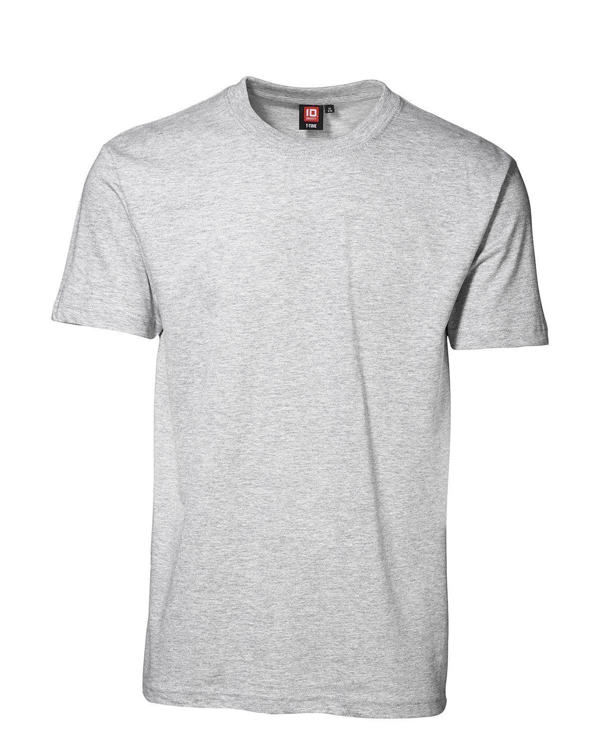 ID T-Time T-shirt, rund hals (Sne, S)