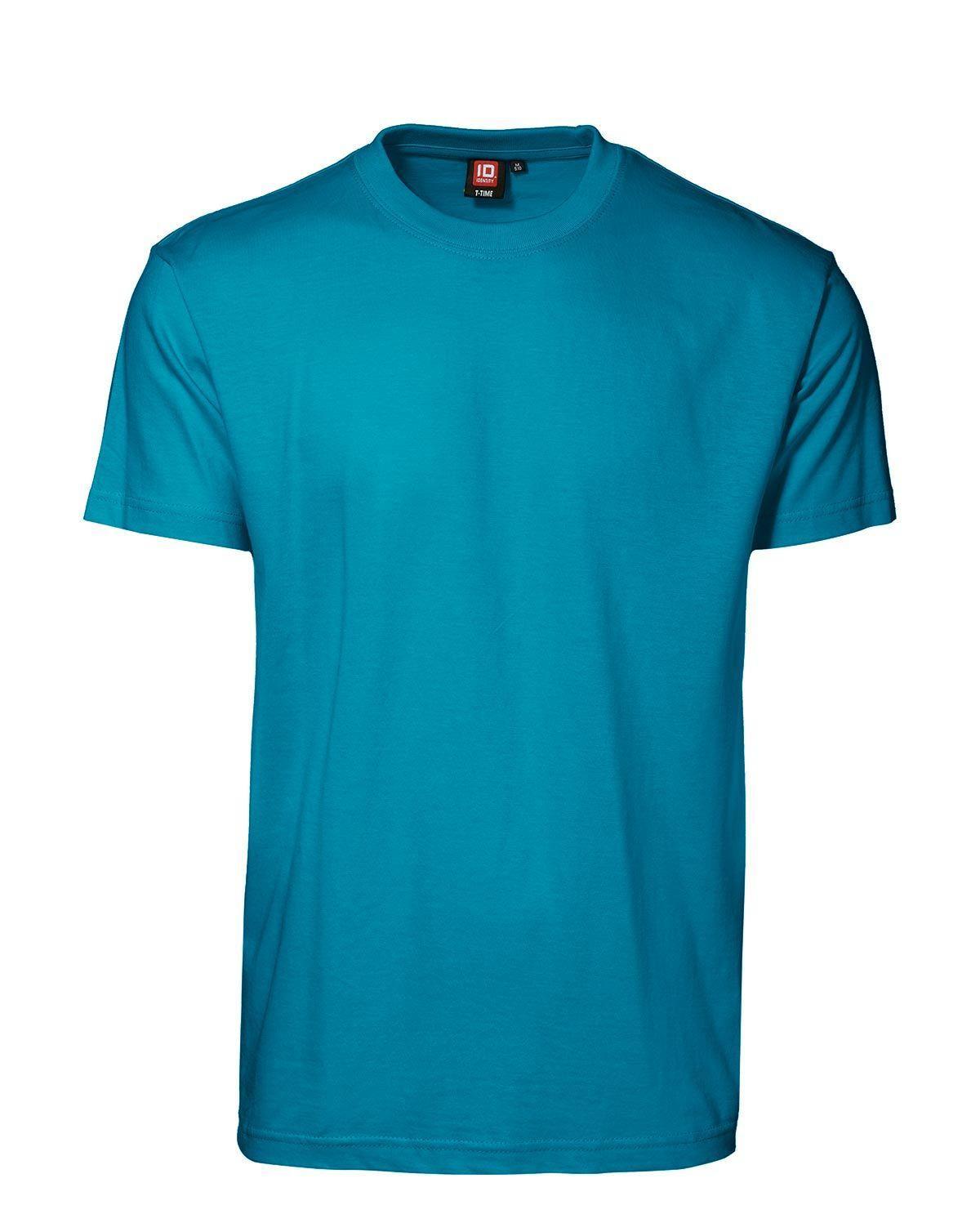 ID T-Time T-shirt, rund hals (Turkis, XL)