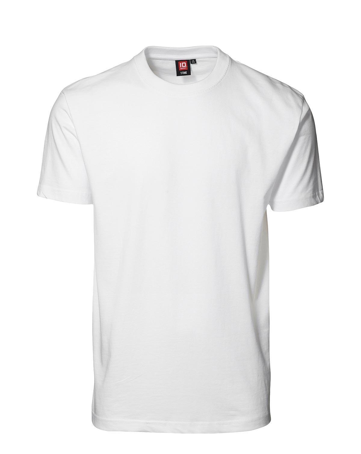 ID T-Time T-shirt, rund hals (Hvid, 6XL)