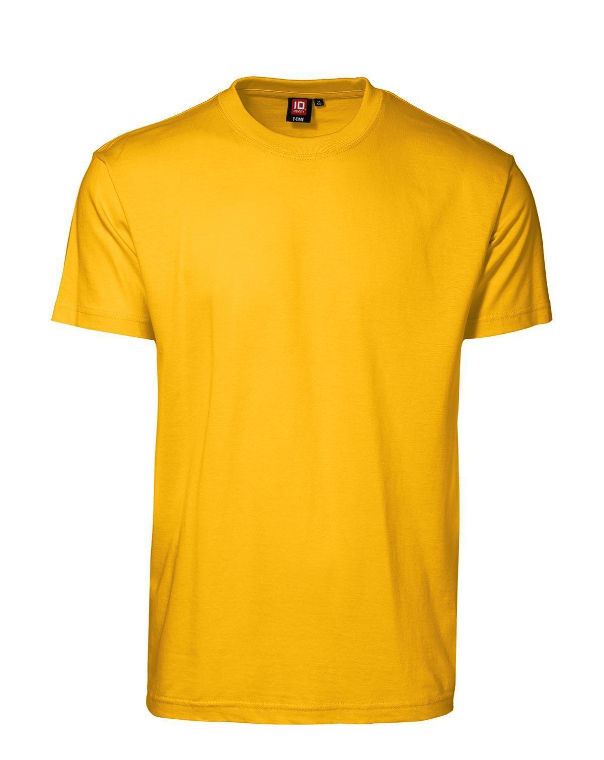 ID T-Time T-shirt, rund hals (Gul, 3XL)