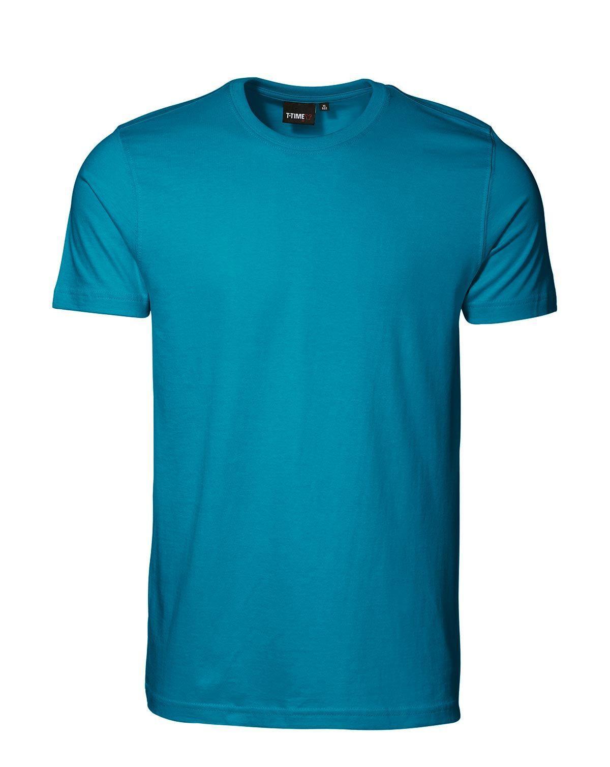 ID T-TIME T-shirt, Tight (Turkis, 3XL)