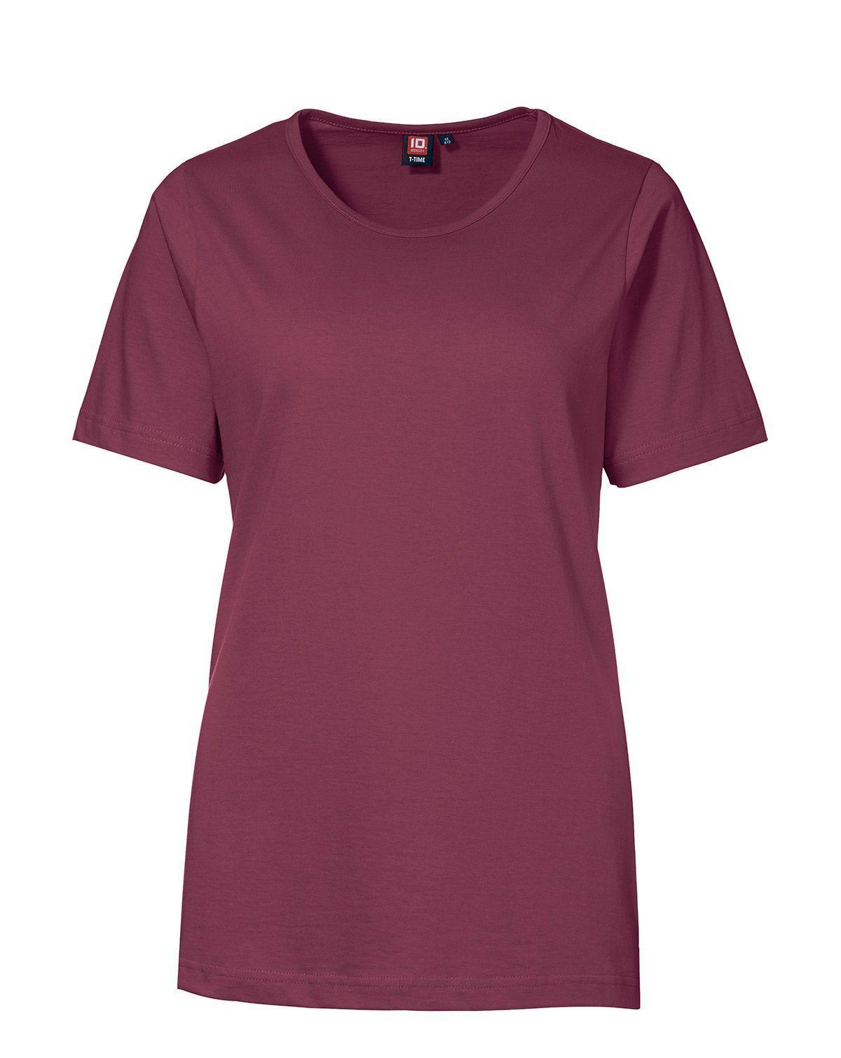ID T-TIME T-shirt til Kvinder (Maroon, 4XL)