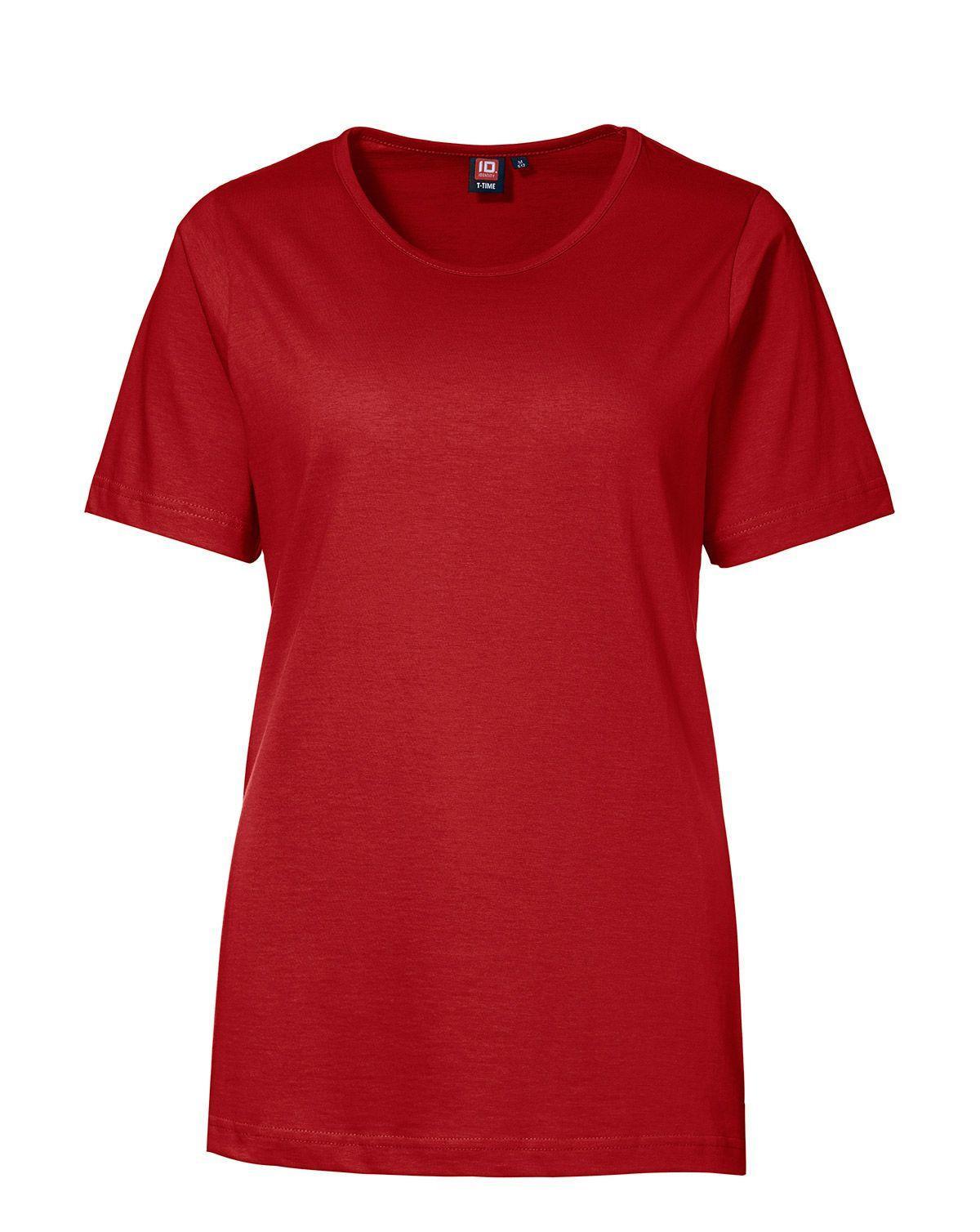 ID T-TIME T-shirt til Kvinder (Rød, L)