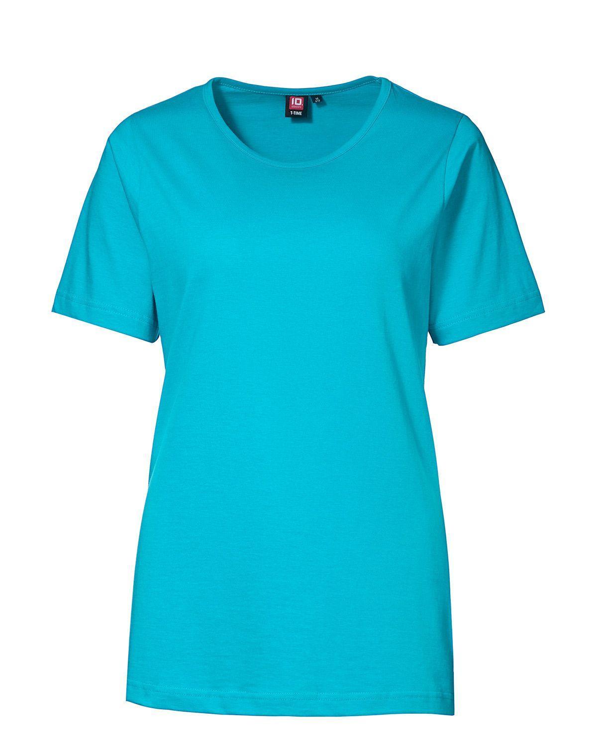 ID T-TIME T-shirt til Kvinder (Turkis, 3XL)