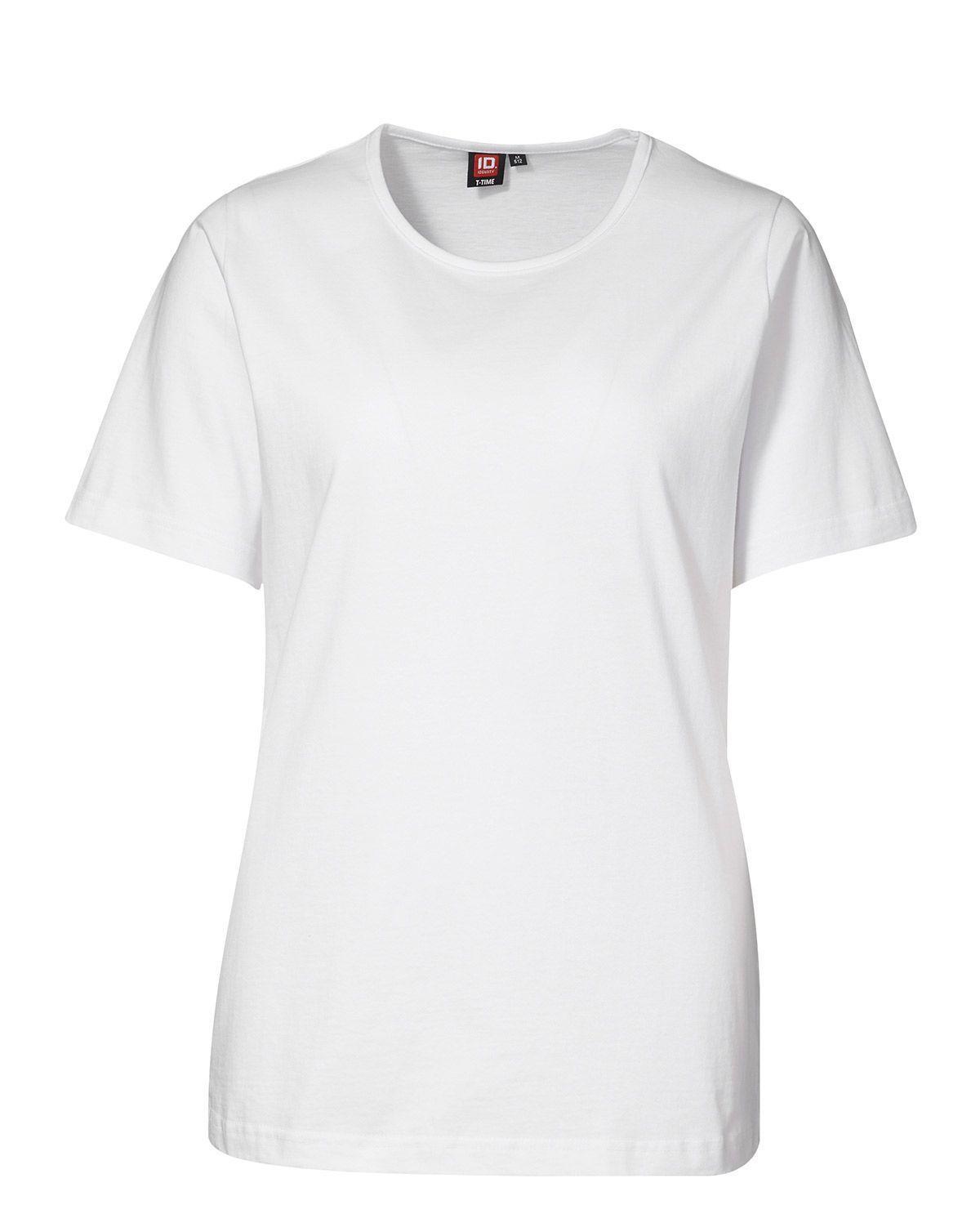 ID T-TIME T-shirt til Kvinder (Hvid, 2XL)