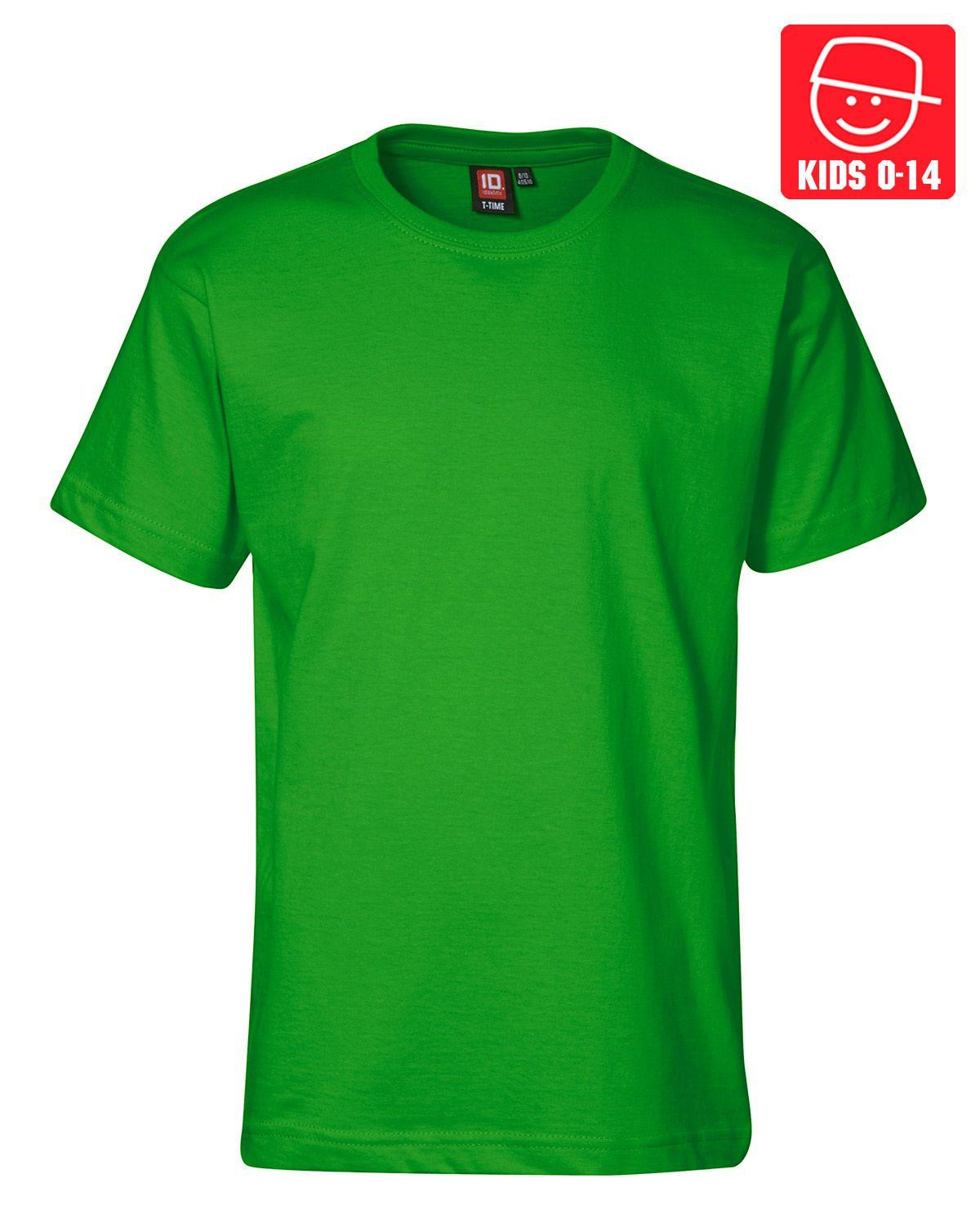 Image of   ID T-TIME T-shirt (Grøn, 158)