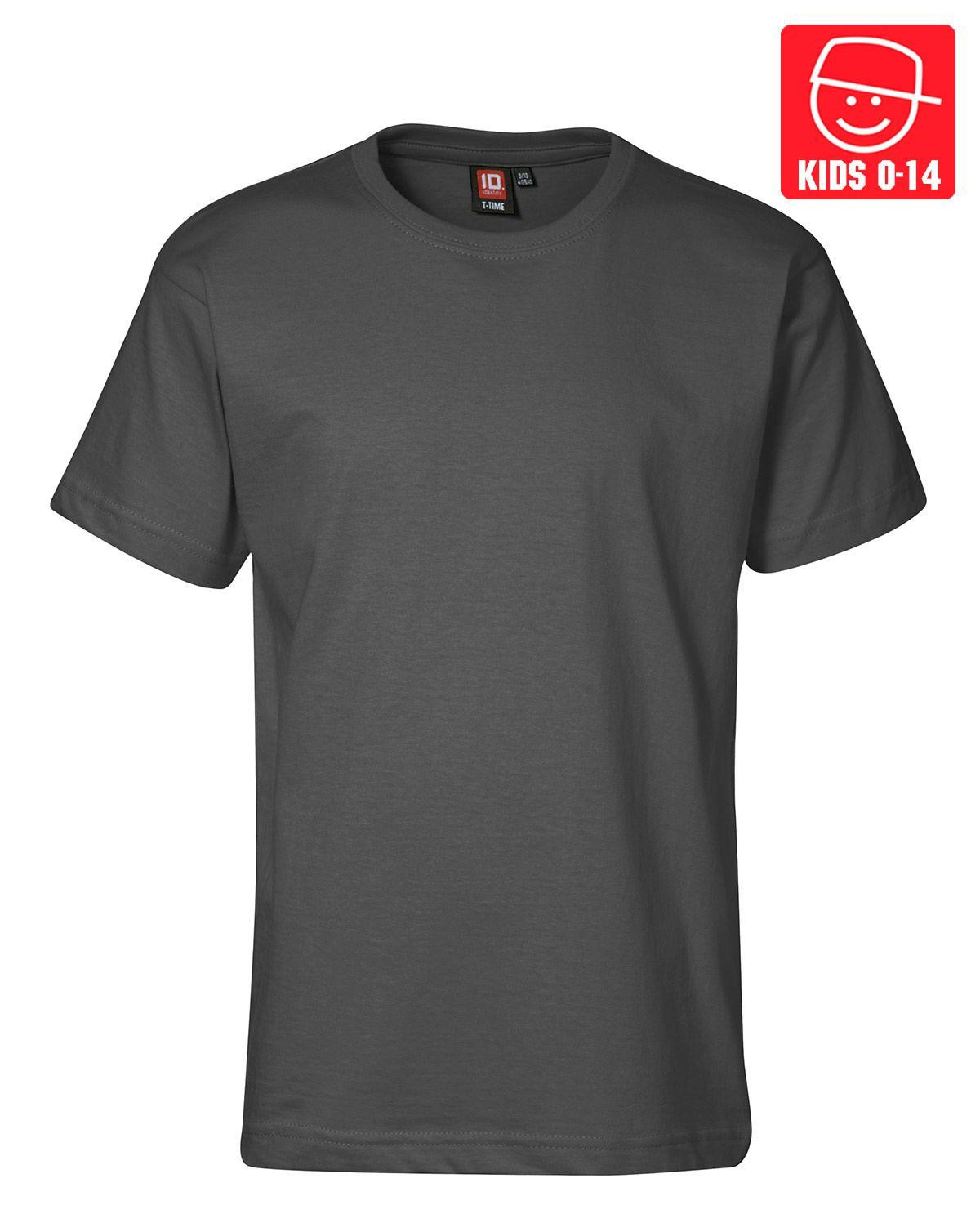Image of   ID T-TIME T-shirt (Charcoal, K122)