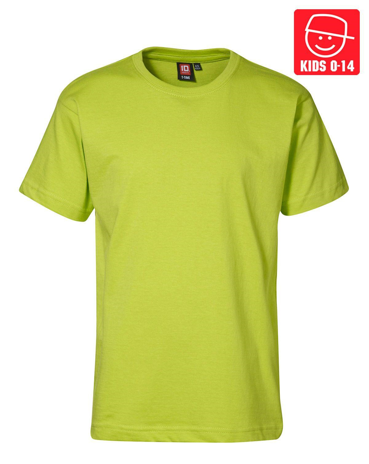 Image of   ID T-TIME T-shirt (Lime, 158)