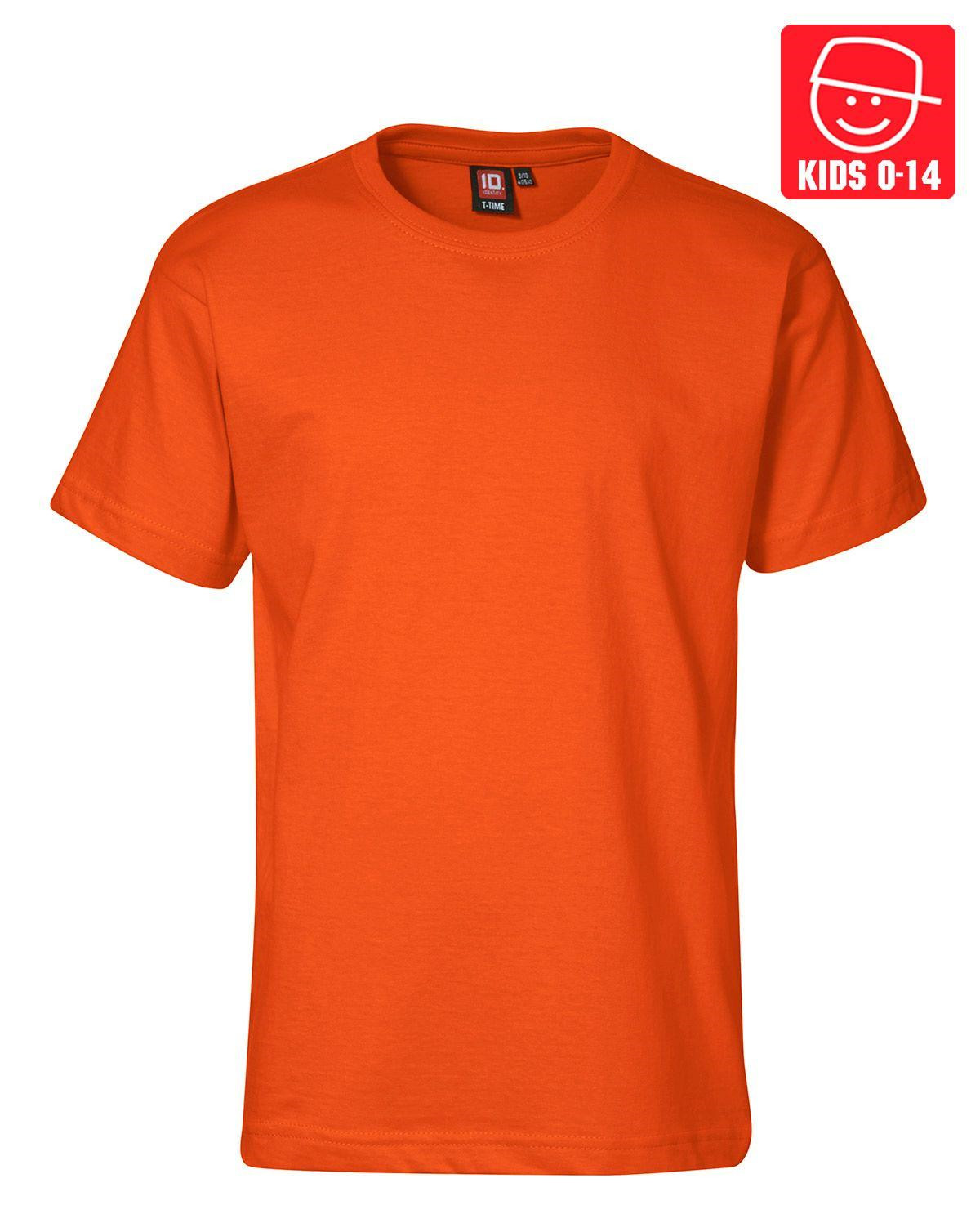 Image of   ID T-TIME T-shirt (Orange, 158)