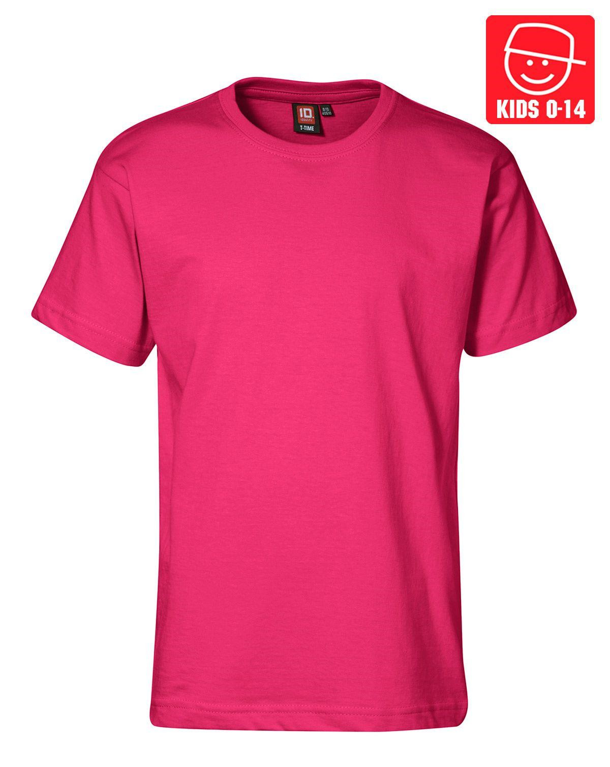 Image of   ID T-TIME T-shirt (Pink, 158)