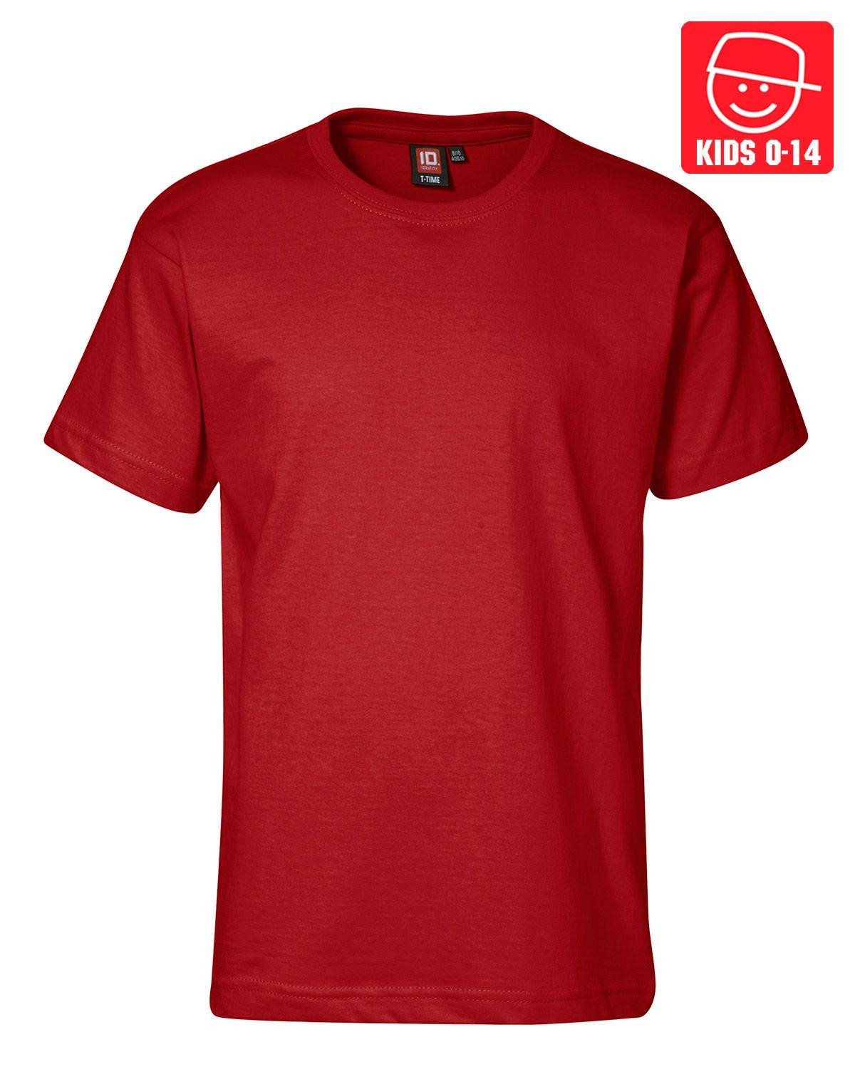 Image of   ID T-TIME T-shirt (Rød, 128)