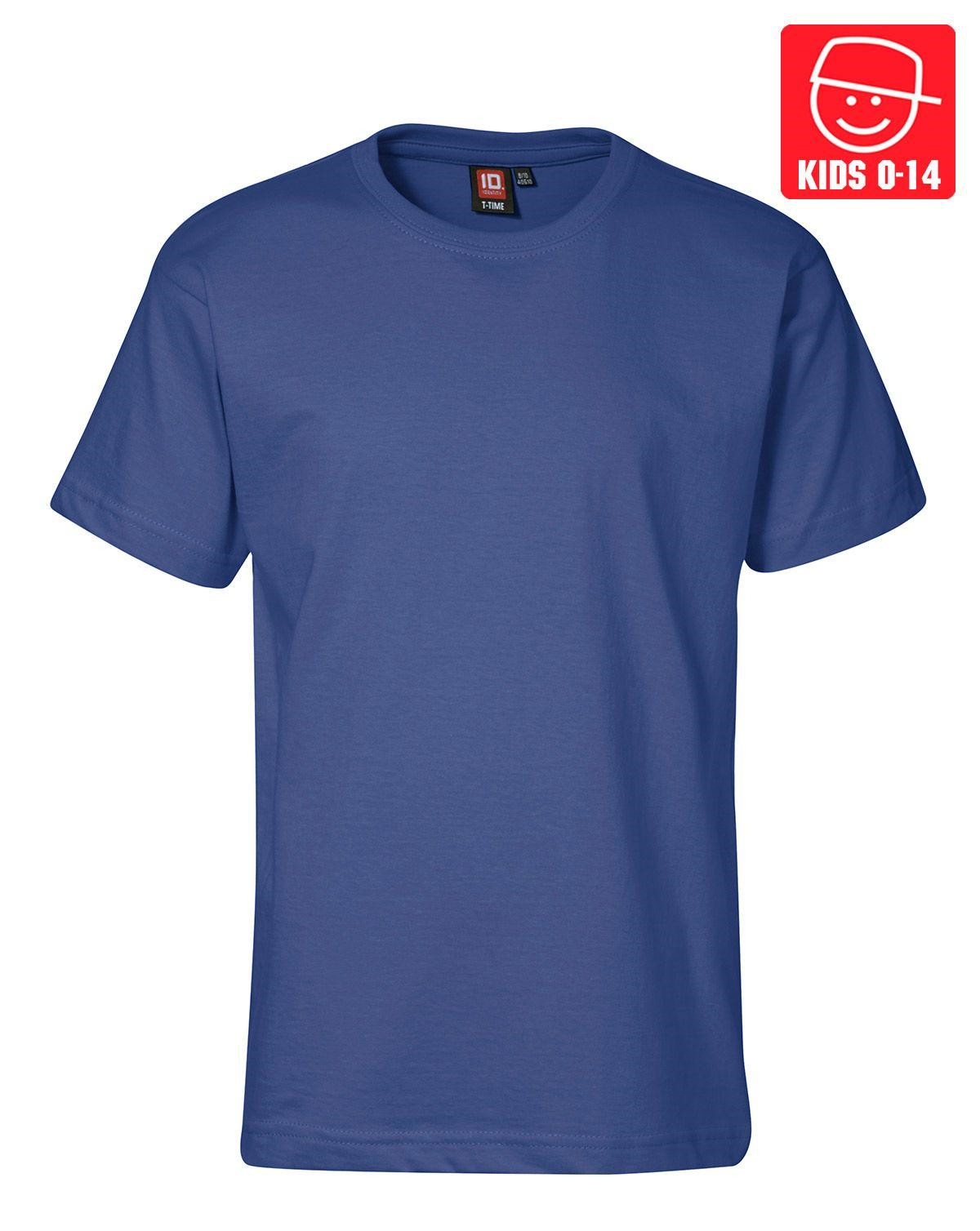 Image of   ID T-TIME T-shirt (Kongeblå, 128)