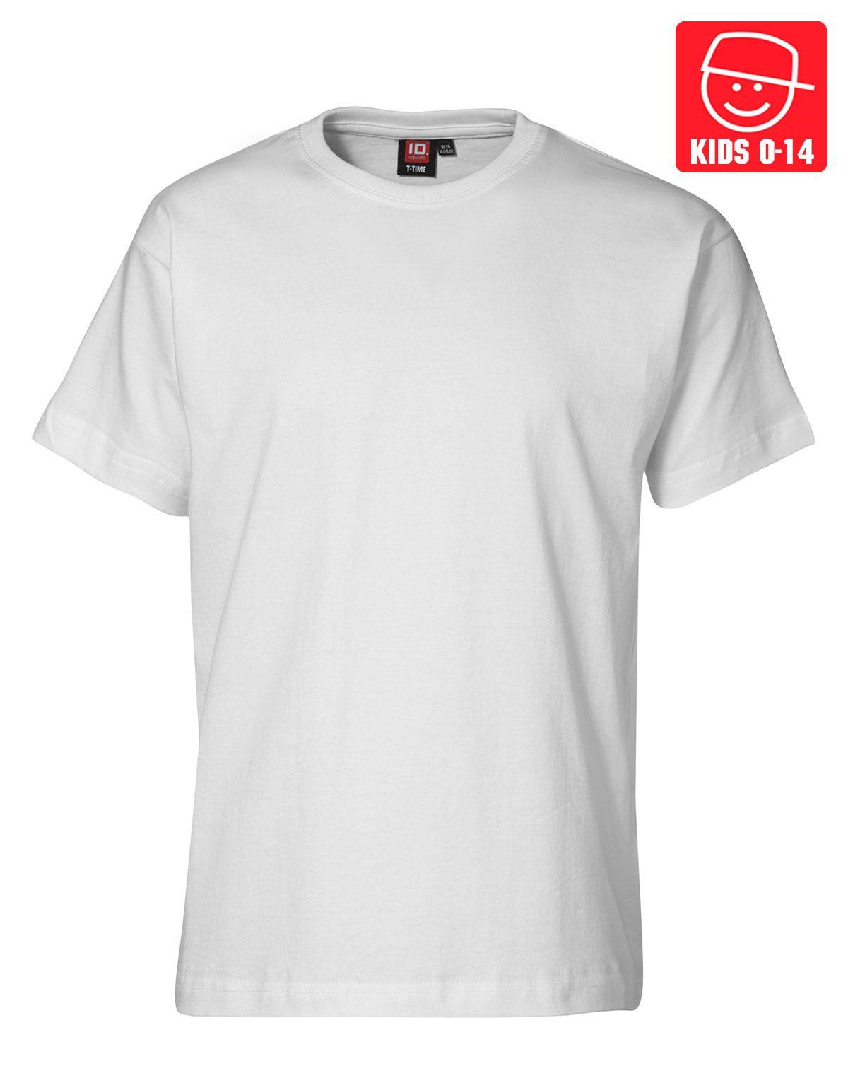 Image of   ID T-TIME T-shirt (Hvid, K122)