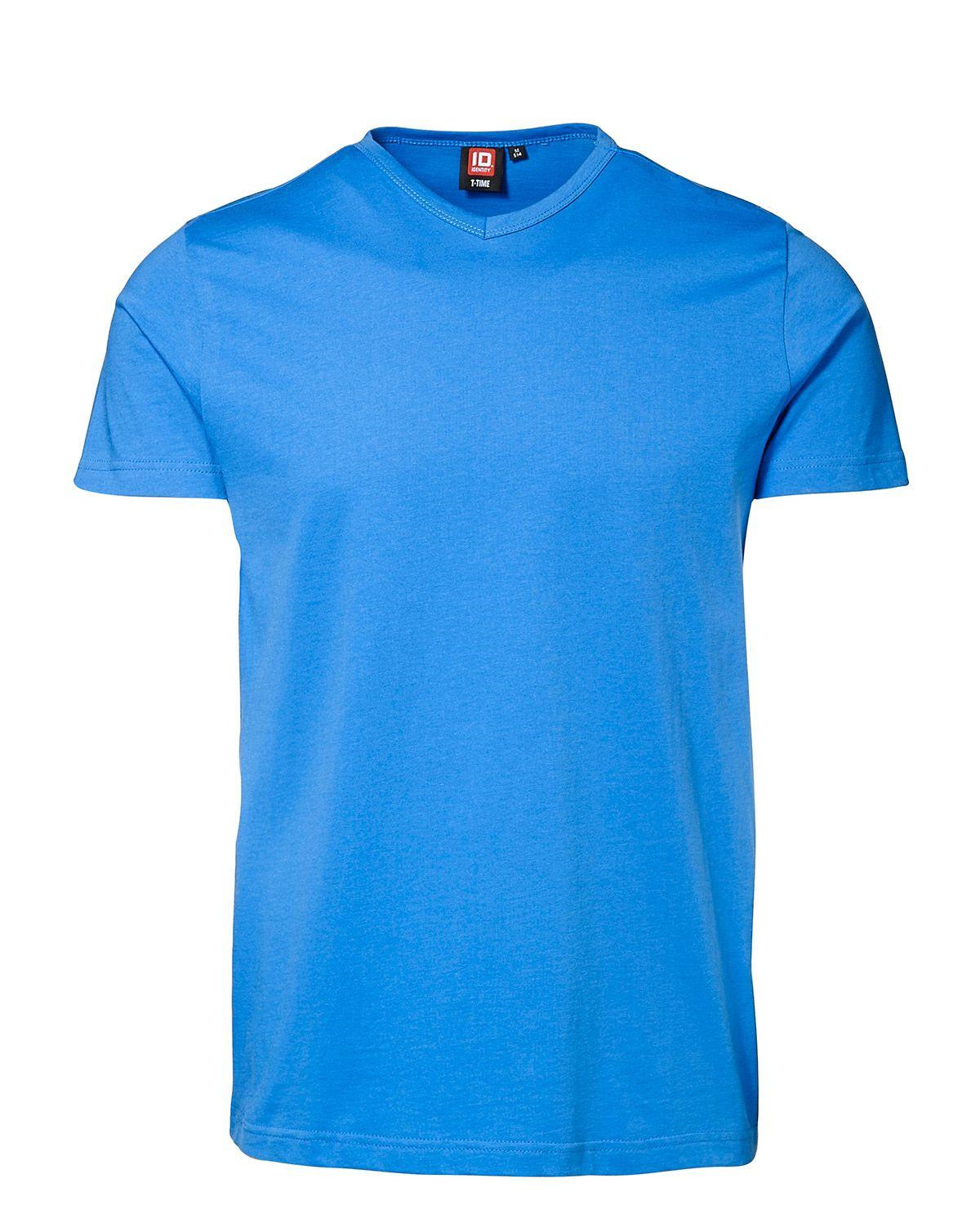 ID V-hals T-shirt (Azure, 2XL)